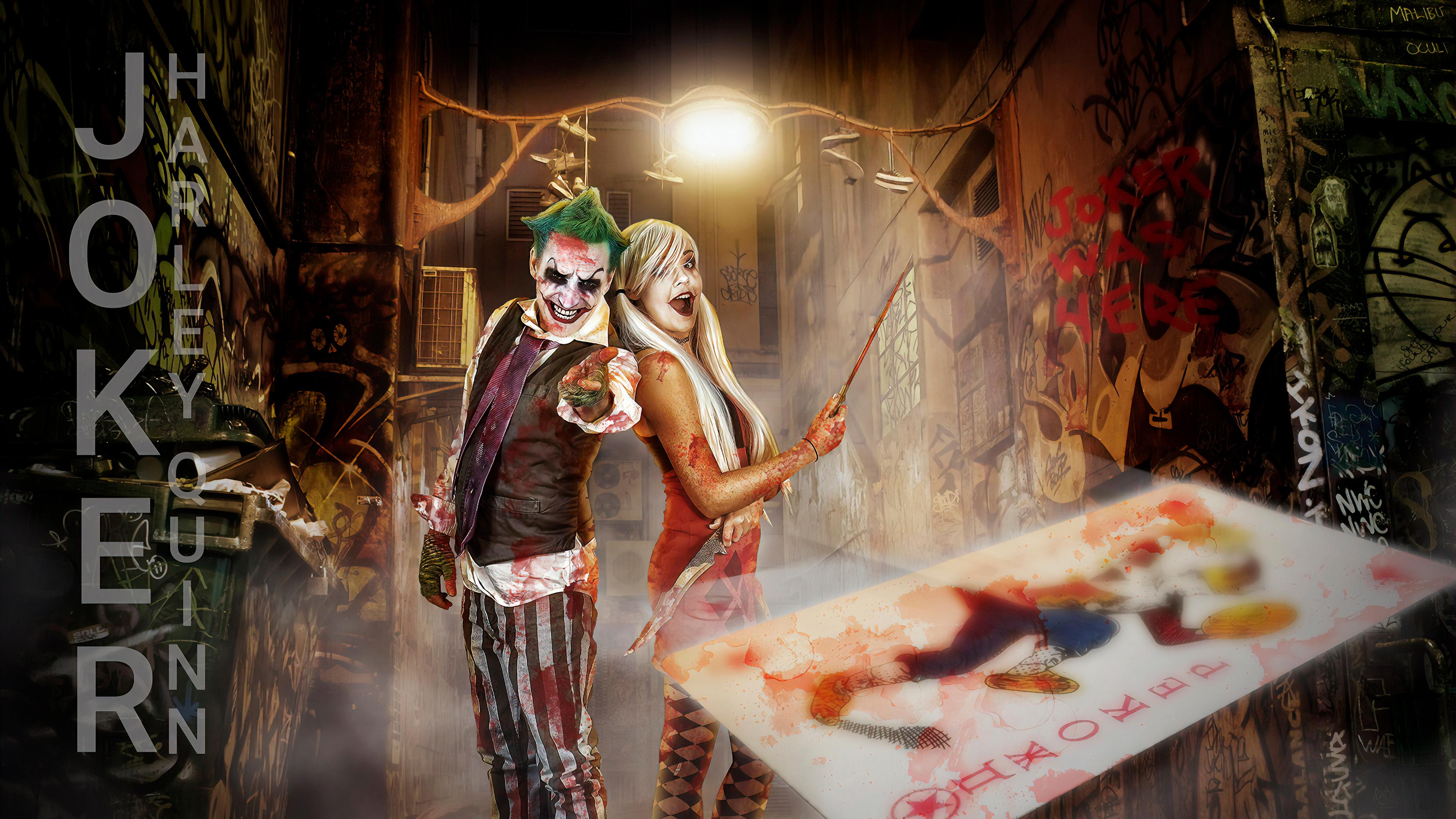 Wallpaper Harley Quinn Joker