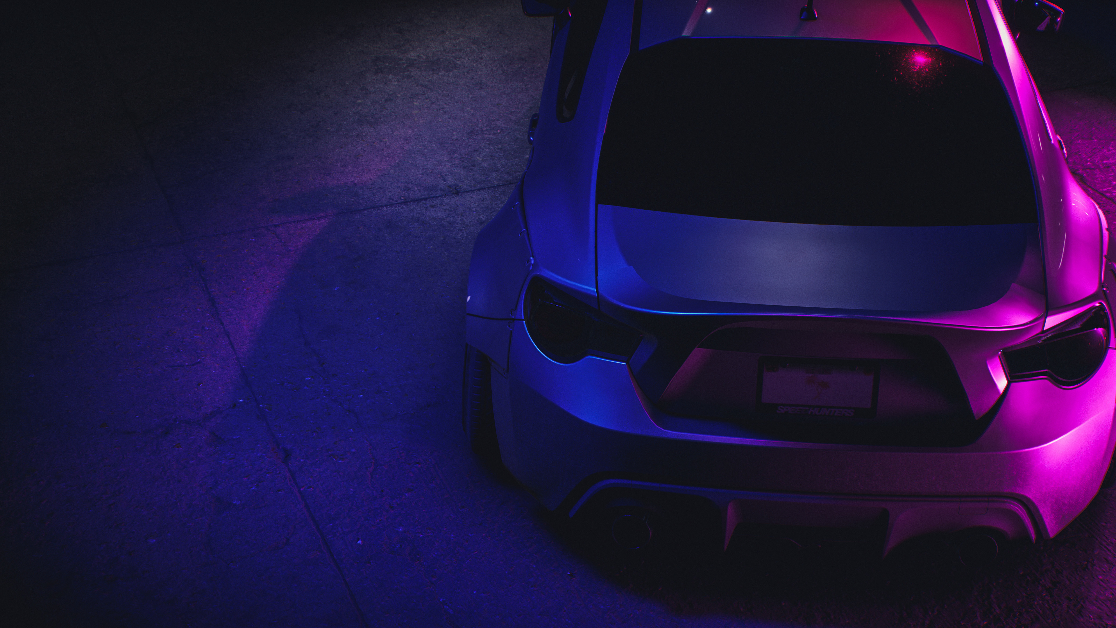 Neon Car Wallpaper 4k