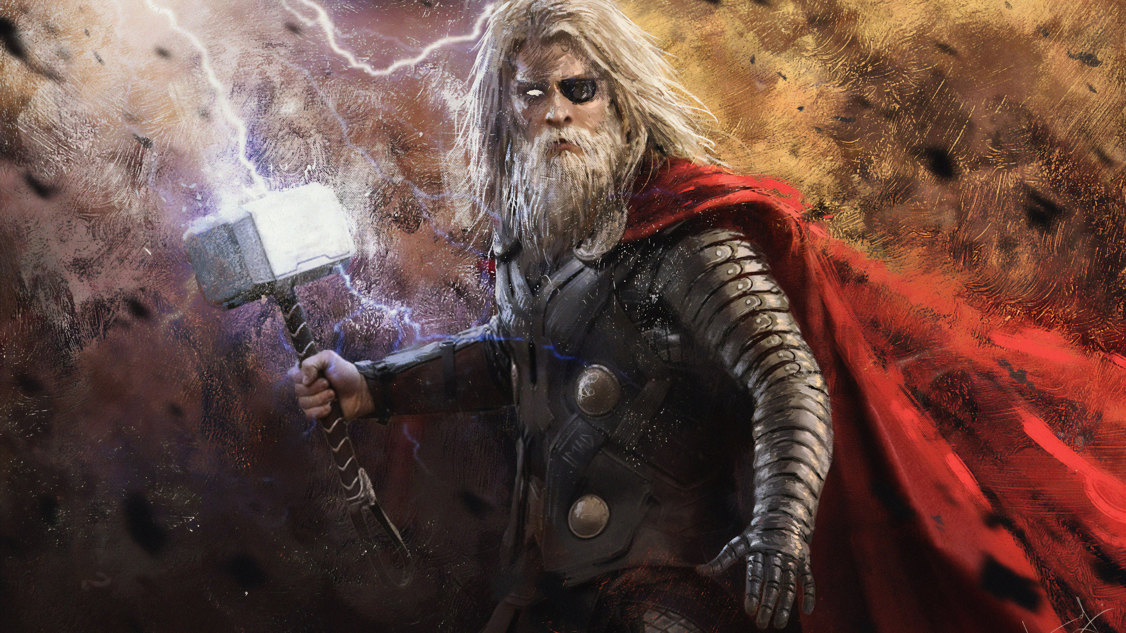old thor 4k 1565052833 - Old Thor 4k - thor wallpapers, superheroes wallpapers, hd-wallpapers, digital art wallpapers, artwork wallpapers, 4k-wallpapers