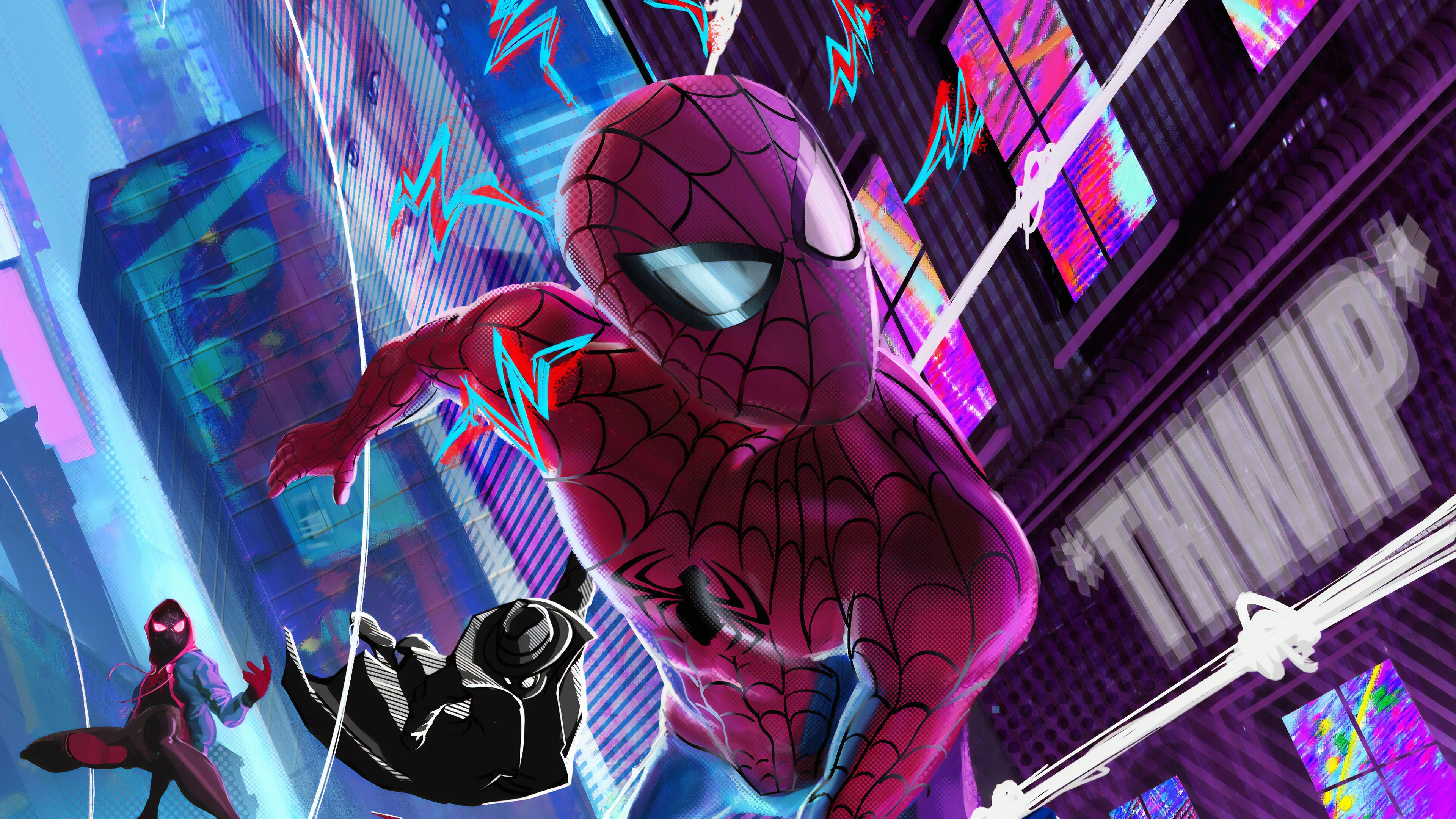 spider verse gang 1565052980 - Spider Verse Gang - superheroes wallpapers, spiderman wallpapers, hd-wallpapers, digital art wallpapers, artwork wallpapers, artstation wallpapers, art wallpapers, 4k-wallpapers