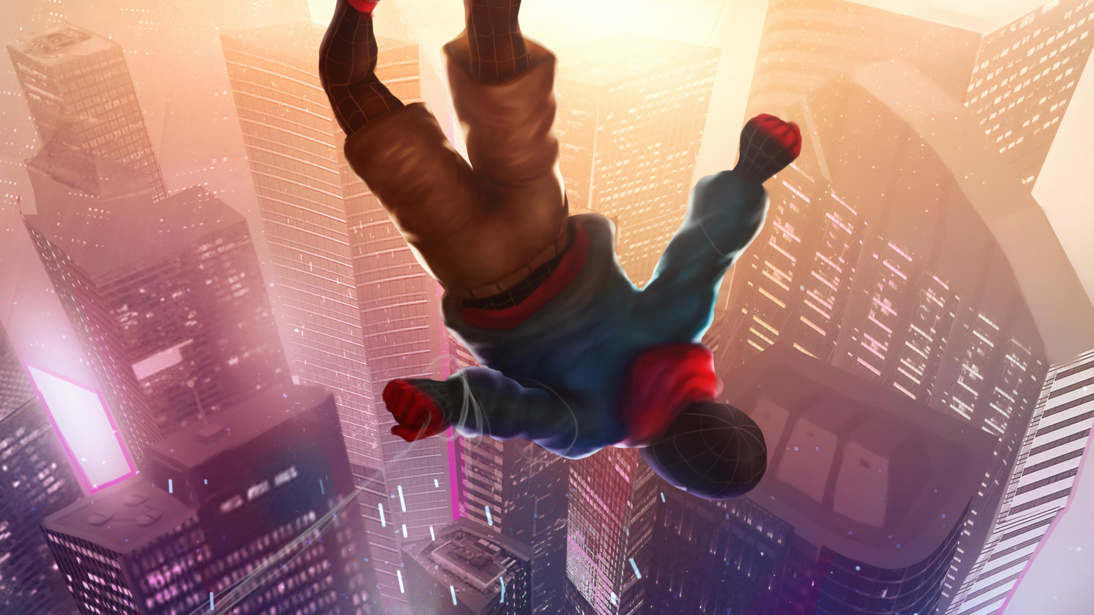 spiderman falling 1565053244 - Spiderman Falling - superheroes wallpapers, spiderman wallpapers, hd-wallpapers, digital art wallpapers, artwork wallpapers, art wallpapers, 4k-wallpapers