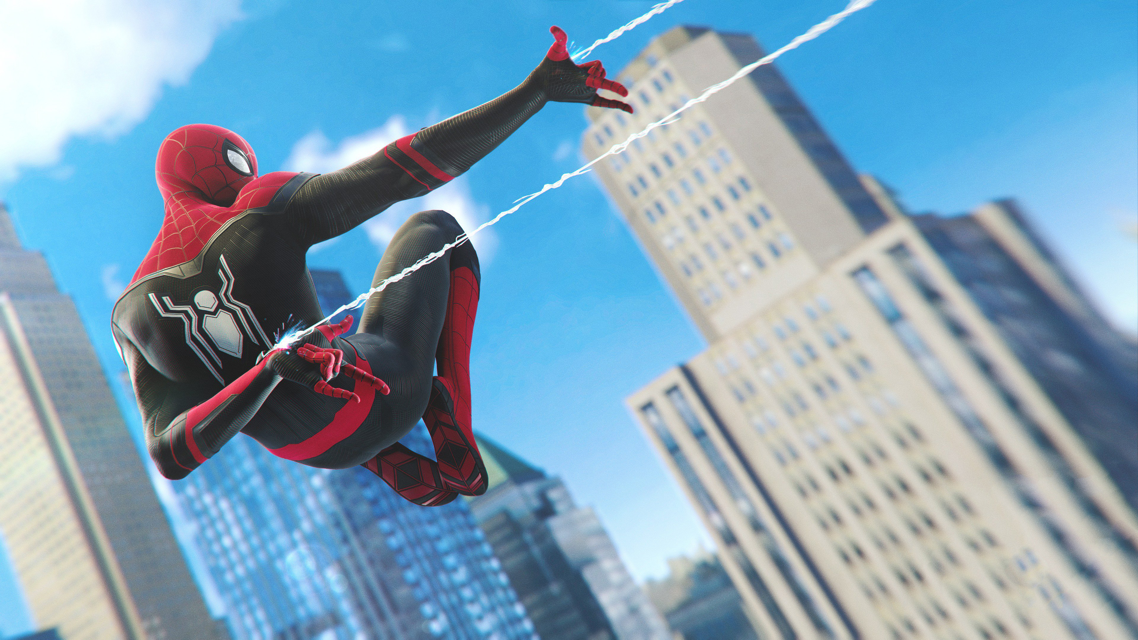 spiderman ps4 far from home upgraded stealth suit 1565054356 - Spiderman Ps4 Far From Home Upgraded Stealth Suit - superheroes wallpapers, spiderman wallpapers, spiderman ps4 wallpapers, ps games wallpapers, hd-wallpapers, games wallpapers, 4k-wallpapers, 2019 games wallpapers