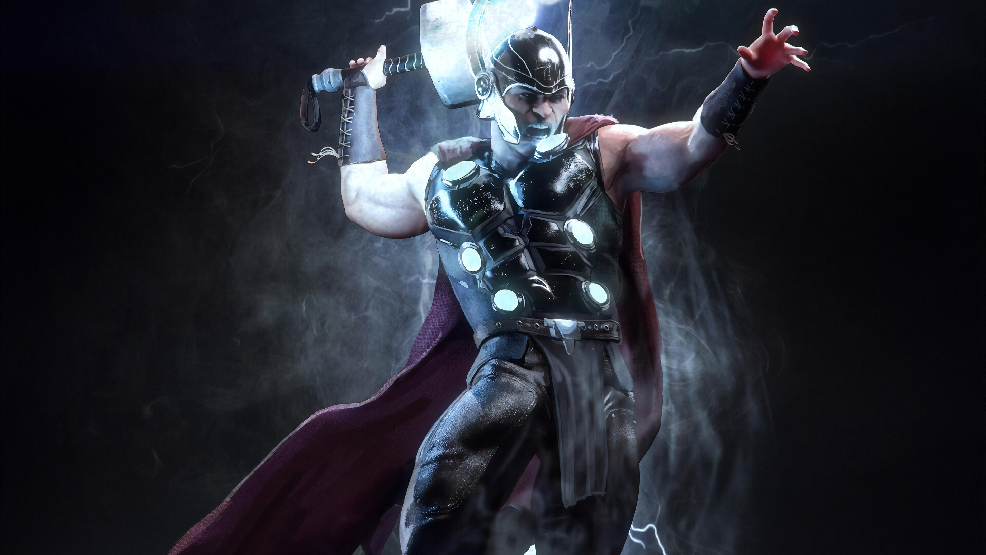 thor marvel superhero 1565052823 - Thor Marvel Superhero - thor wallpapers, superheroes wallpapers, marvel wallpapers, hd-wallpapers, artstation wallpapers, 4k-wallpapers