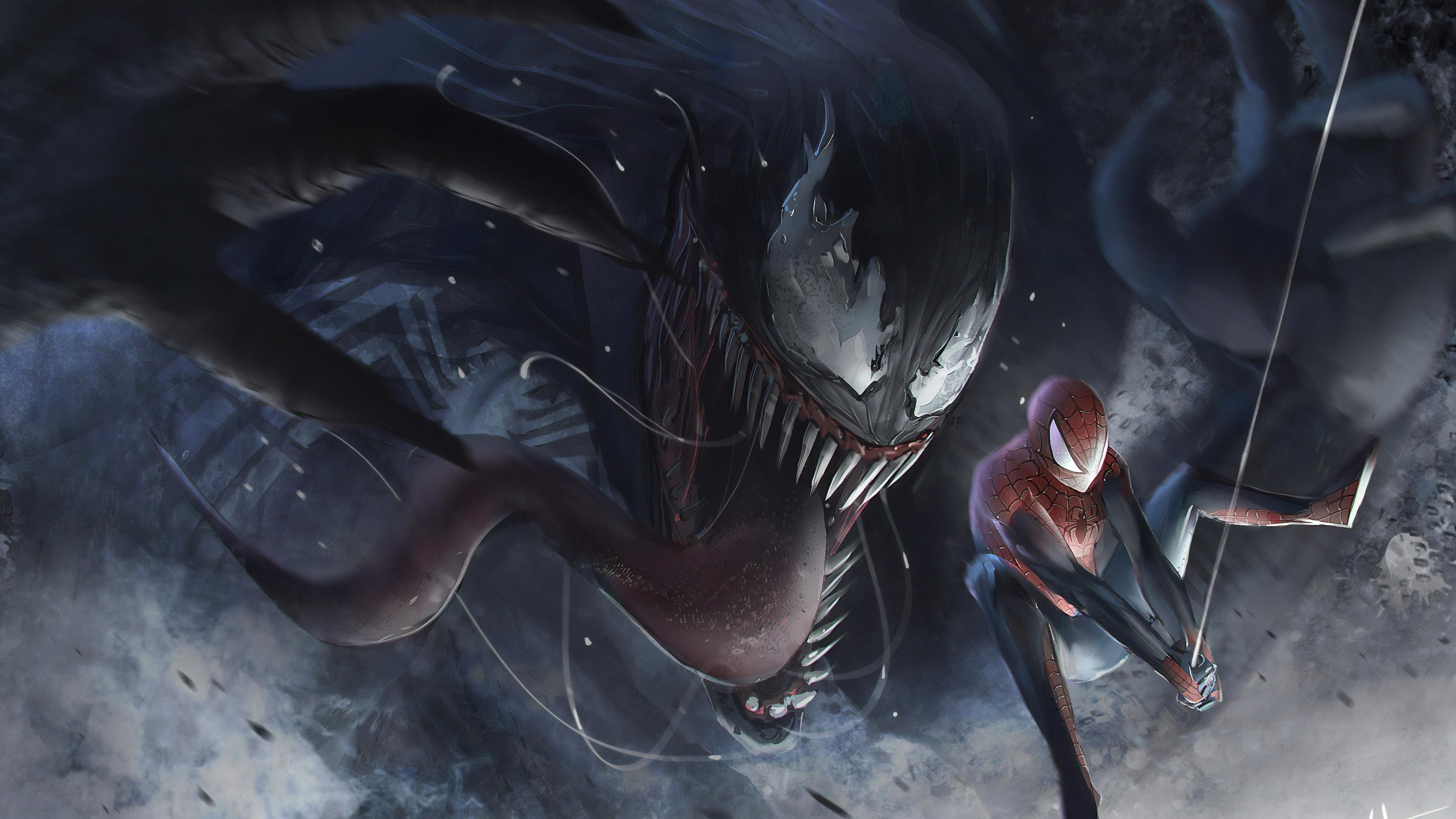 venom vs spidery 1565053692 - Venom Vs Spidery - Venom wallpapers, superheroes wallpapers, spiderman wallpapers, hd-wallpapers, deviantart wallpapers, artwork wallpapers, 4k-wallpapers