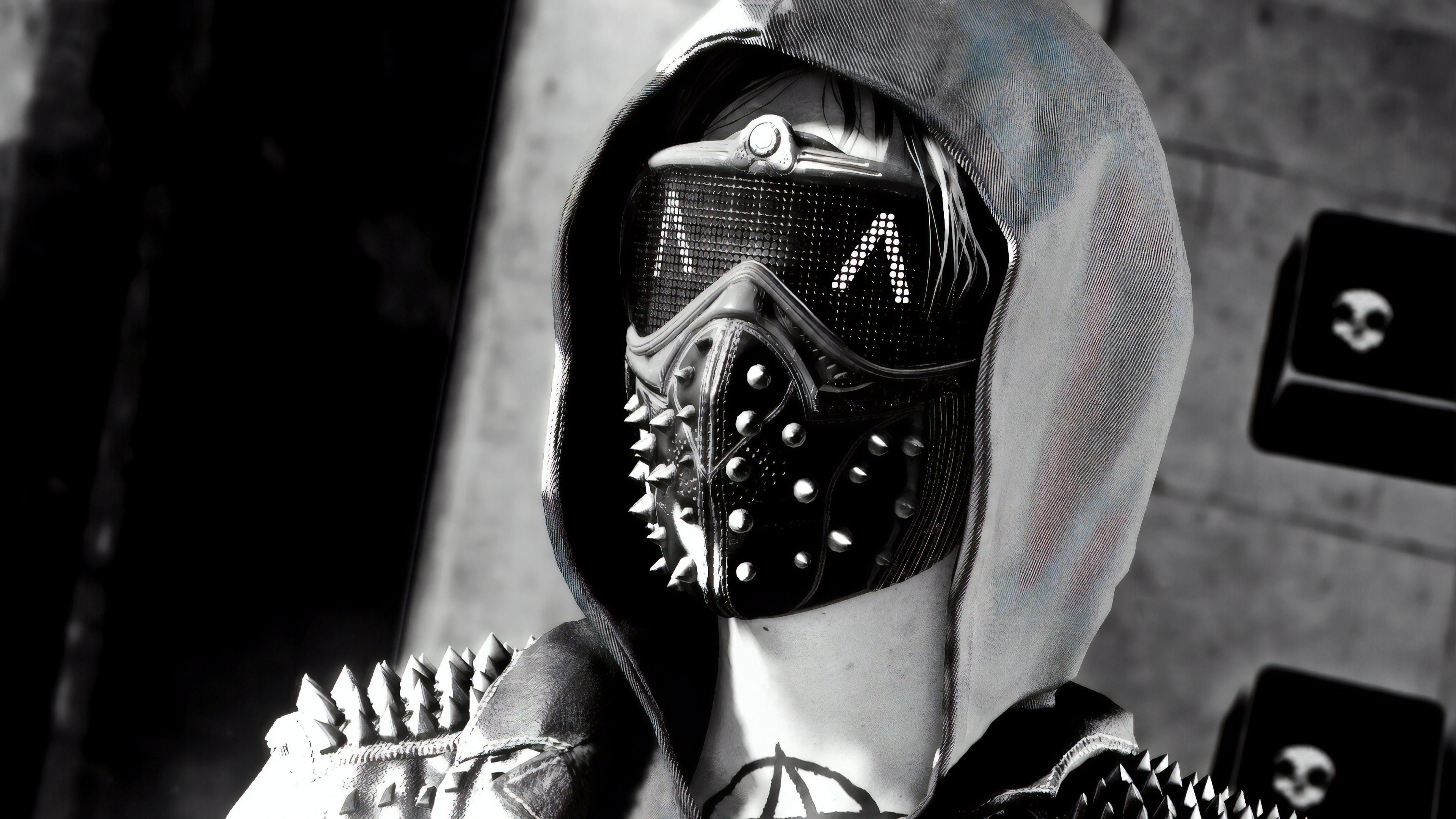 wrench watch dogs 2 monochorme 1565054351 - Wrench Watch Dogs 2 Monochorme - wrench watch dogs 2 wallpapers, watch dogs 2 wallpapers, monochrome wallpapers, hd-wallpapers, games wallpapers, black and white wallpapers, 4k-wallpapers