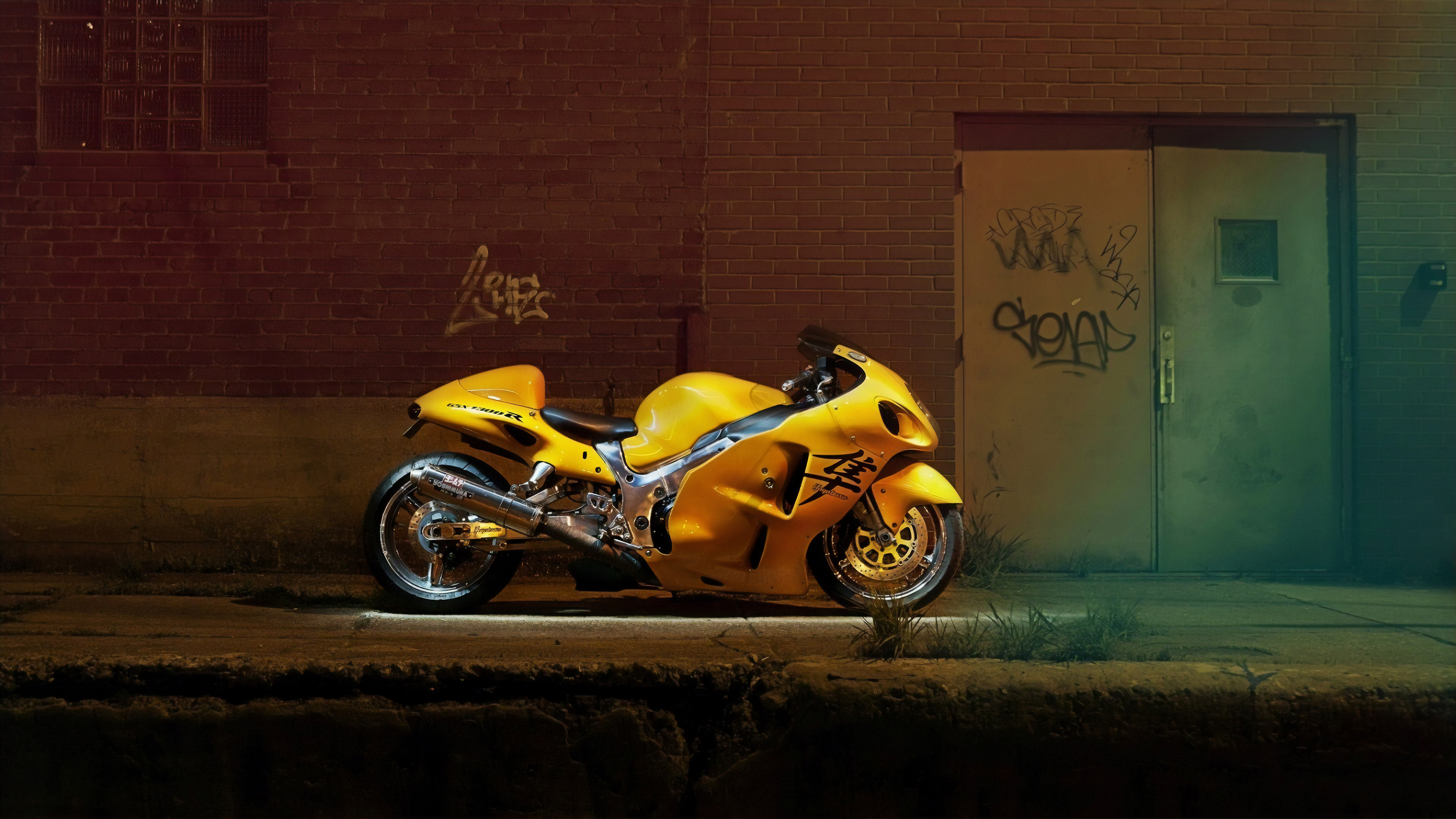 yellow hayabusa 1565055779 - Yellow Hayabusa - suzuki wallpapers, suzuki hayabusa wallpapers, hd-wallpapers, bikes wallpapers, 4k-wallpapers