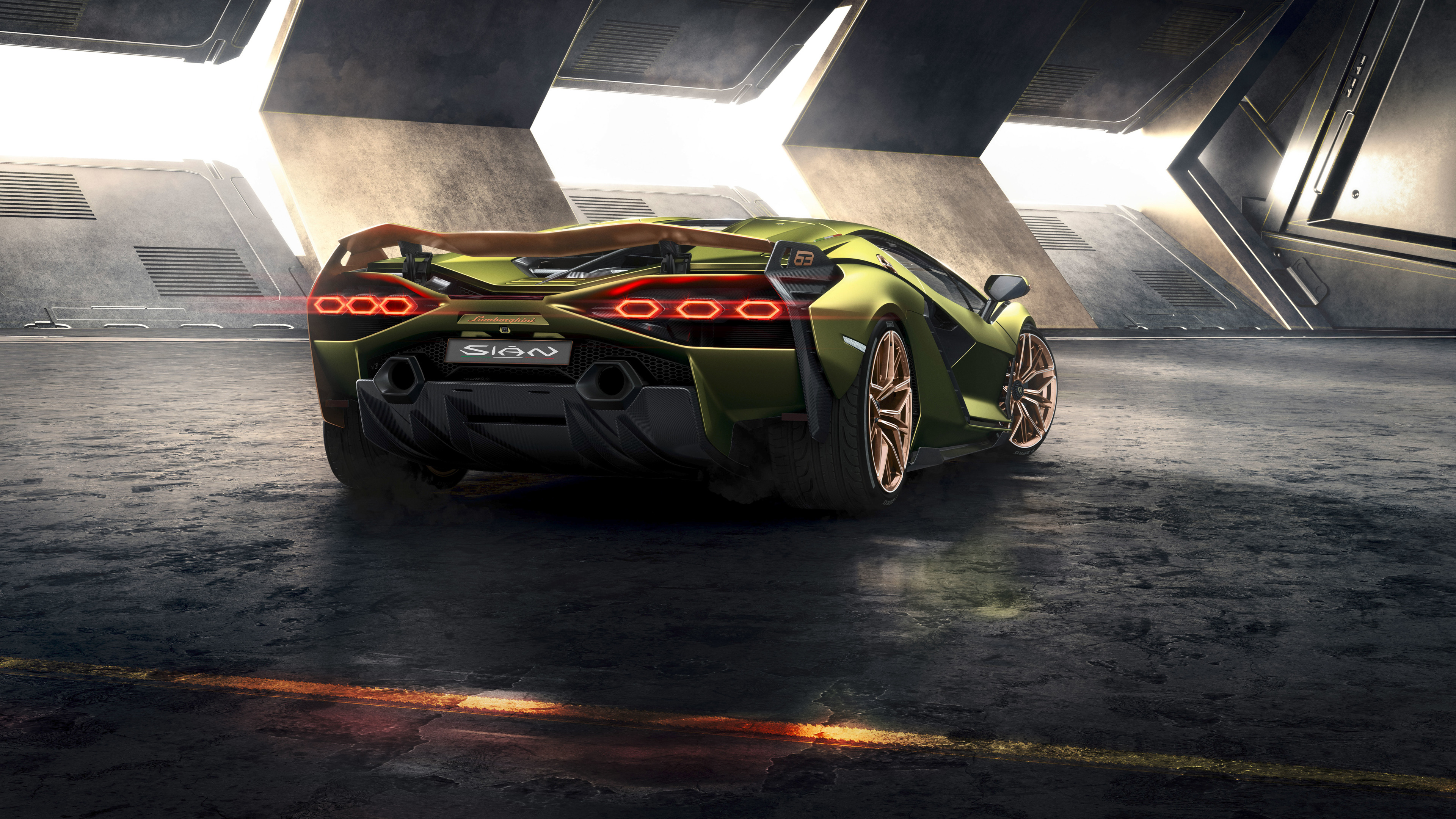 2019 lamborghini sian rear 1569189552 - 2019 Lamborghini Sian Rear - lamborghini wallpapers, lamborghini sian wallpapers, hd-wallpapers, cars wallpapers, 8k wallpapers, 5k wallpapers, 4k-wallpapers, 2019 cars wallpapers