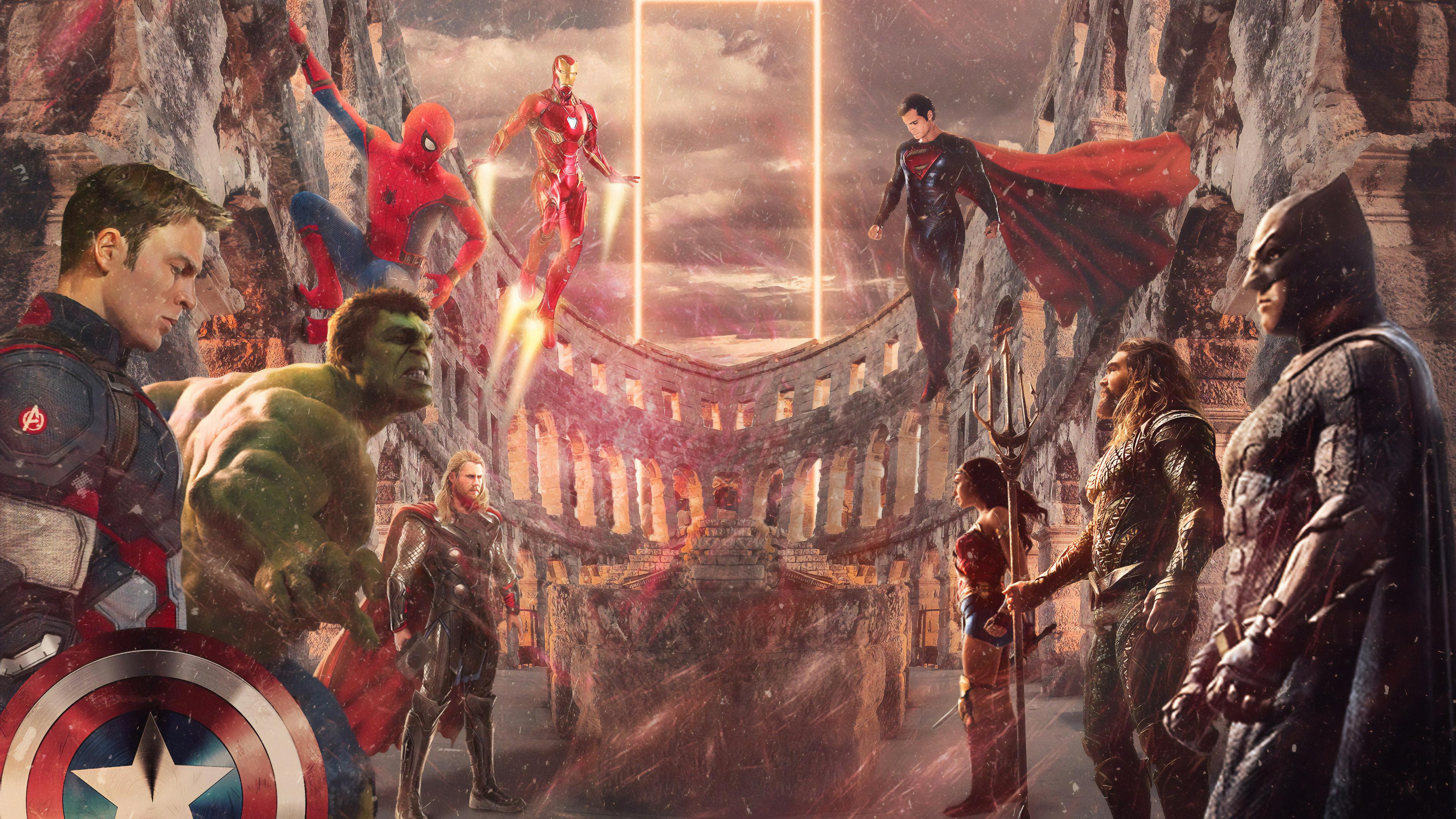 avengers vs justice league 1569186647 - Avengers Vs Justice League - superheroes wallpapers, justice league wallpapers, hd-wallpapers, behance wallpapers, avengers-wallpapers, artwork wallpapers, 4k-wallpapers