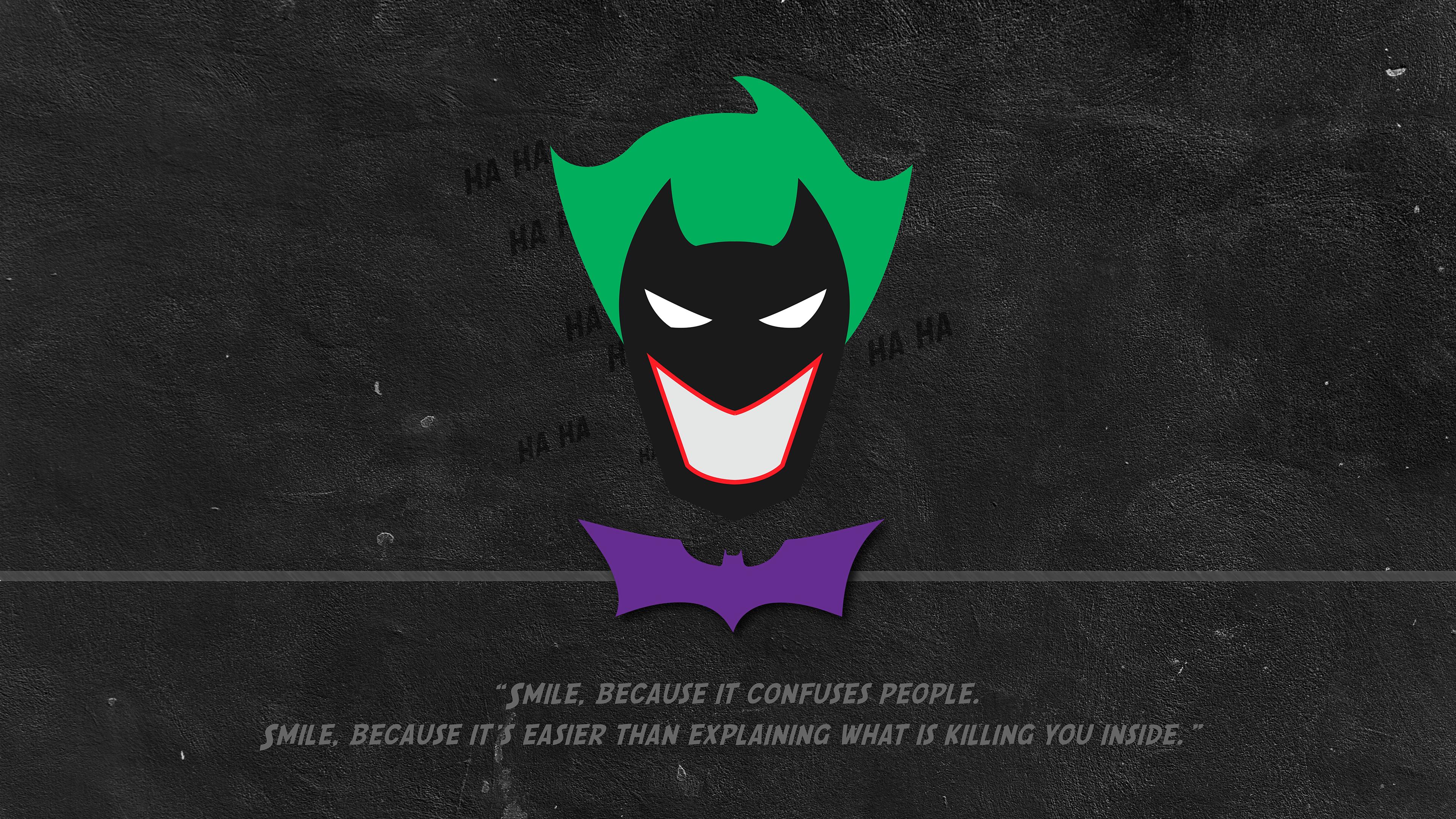batman joker minimal typography 1568055239 - Batman Joker Minimal Typography - typography wallpapers, superheroes wallpapers, logo wallpapers, joker wallpapers, hd-wallpapers, behance wallpapers, batman wallpapers, 4k-wallpapers