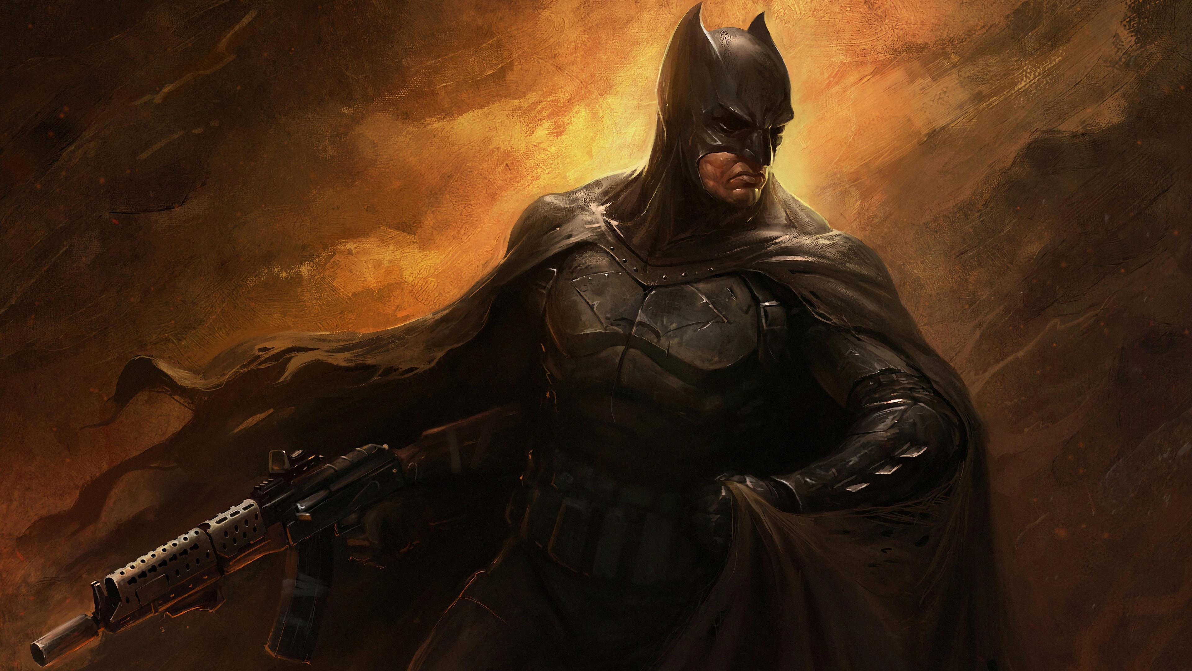 batman with gun 1569186347 - Batman With Gun - superheroes wallpapers, hd-wallpapers, digital art wallpapers, batman wallpapers, artwork wallpapers, artstation wallpapers, 4k-wallpapers