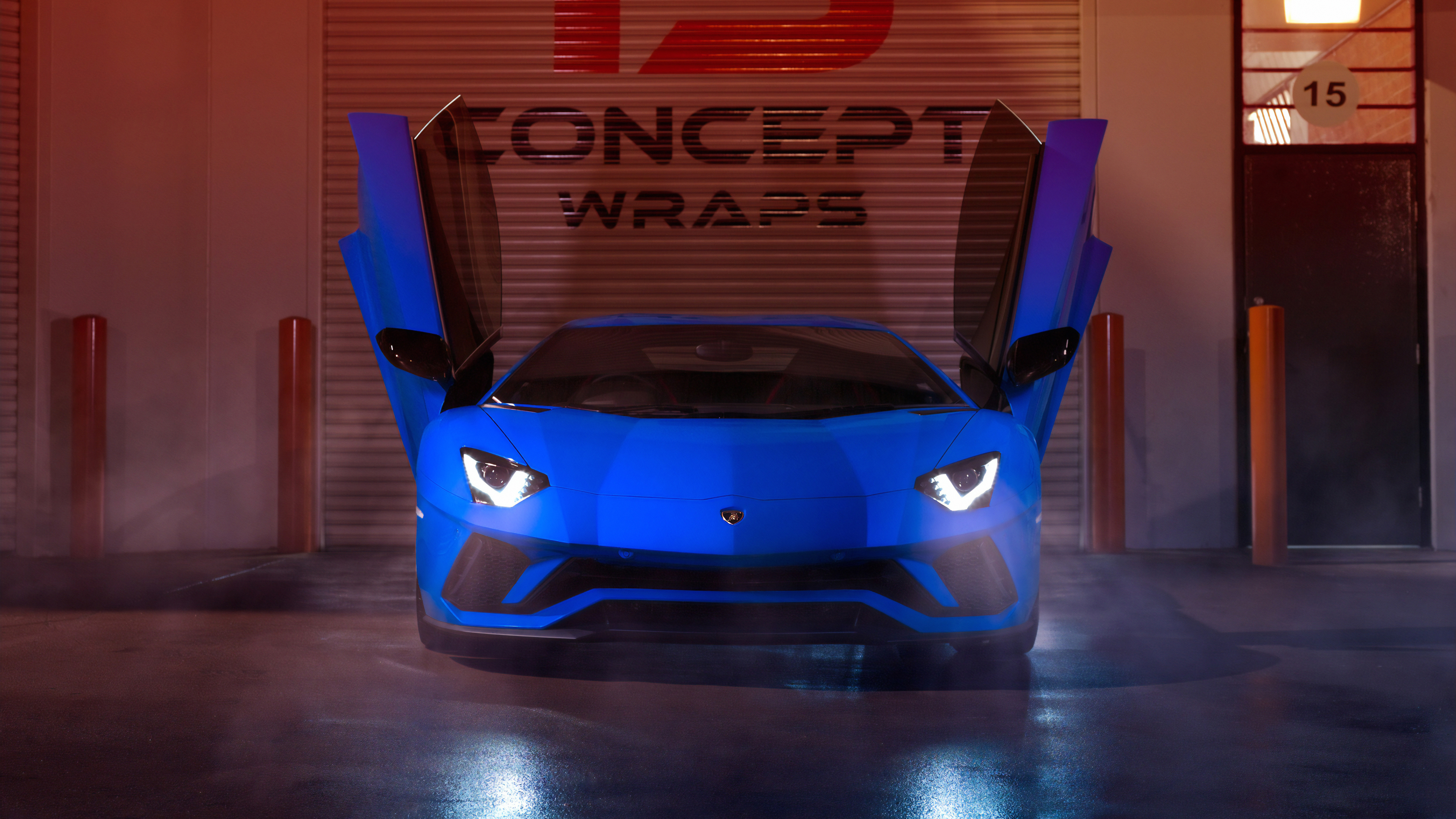 blue lamborghini aventador 2019 1569188389 - Blue Lamborghini Aventador 2019 - lamborghini wallpapers, lamborghini aventador wallpapers, hd-wallpapers, cars wallpapers, behance wallpapers, 4k-wallpapers