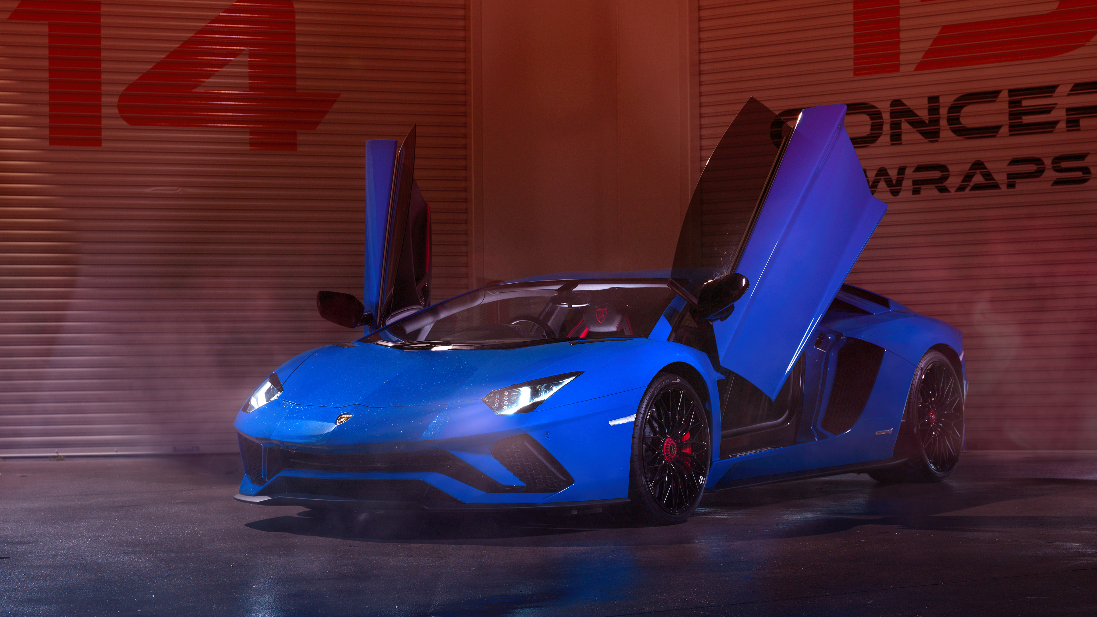 Car Wallpaper Blue Lamborghini