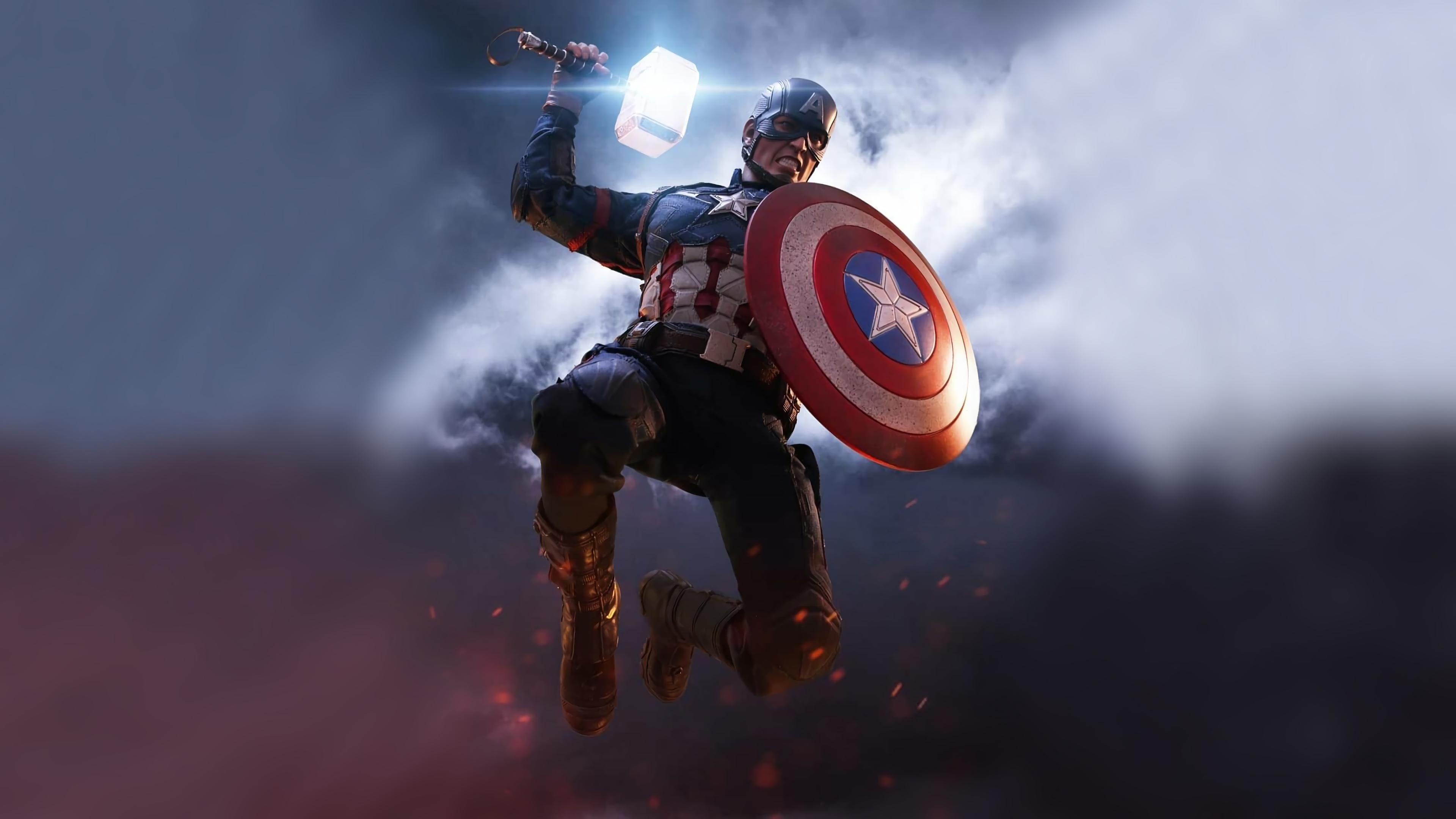 captain america mjolnir artwork 1568053956 - Captain America Mjolnir Artwork - superheroes wallpapers, hd-wallpapers, captain america wallpapers, artwork wallpapers, 4k-wallpapers