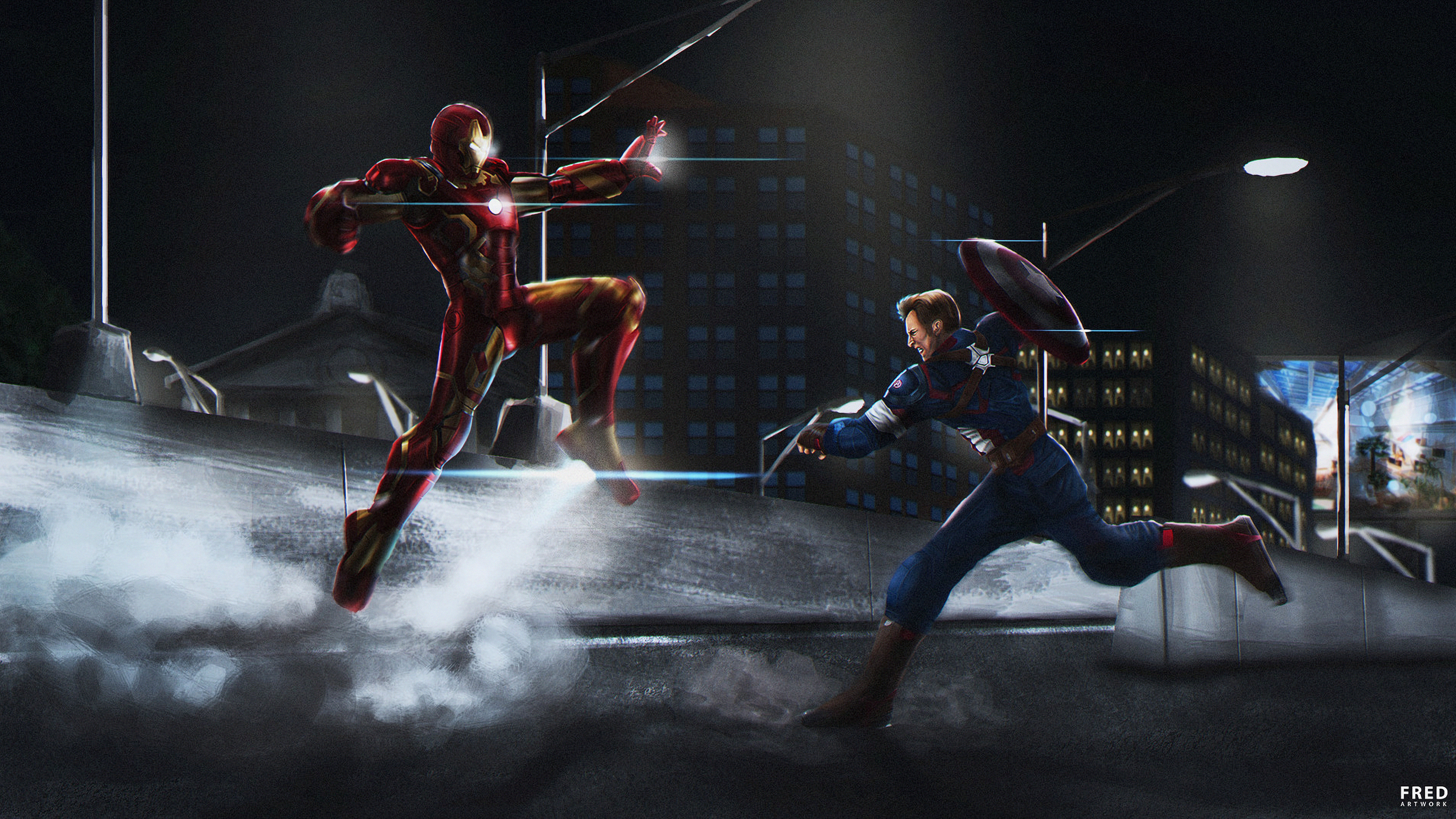 captain and iron man 1569186887 - Captain And Iron Man - superheroes wallpapers, iron man wallpapers, hd-wallpapers, captain america wallpapers, artwork wallpapers, 4k-wallpapers