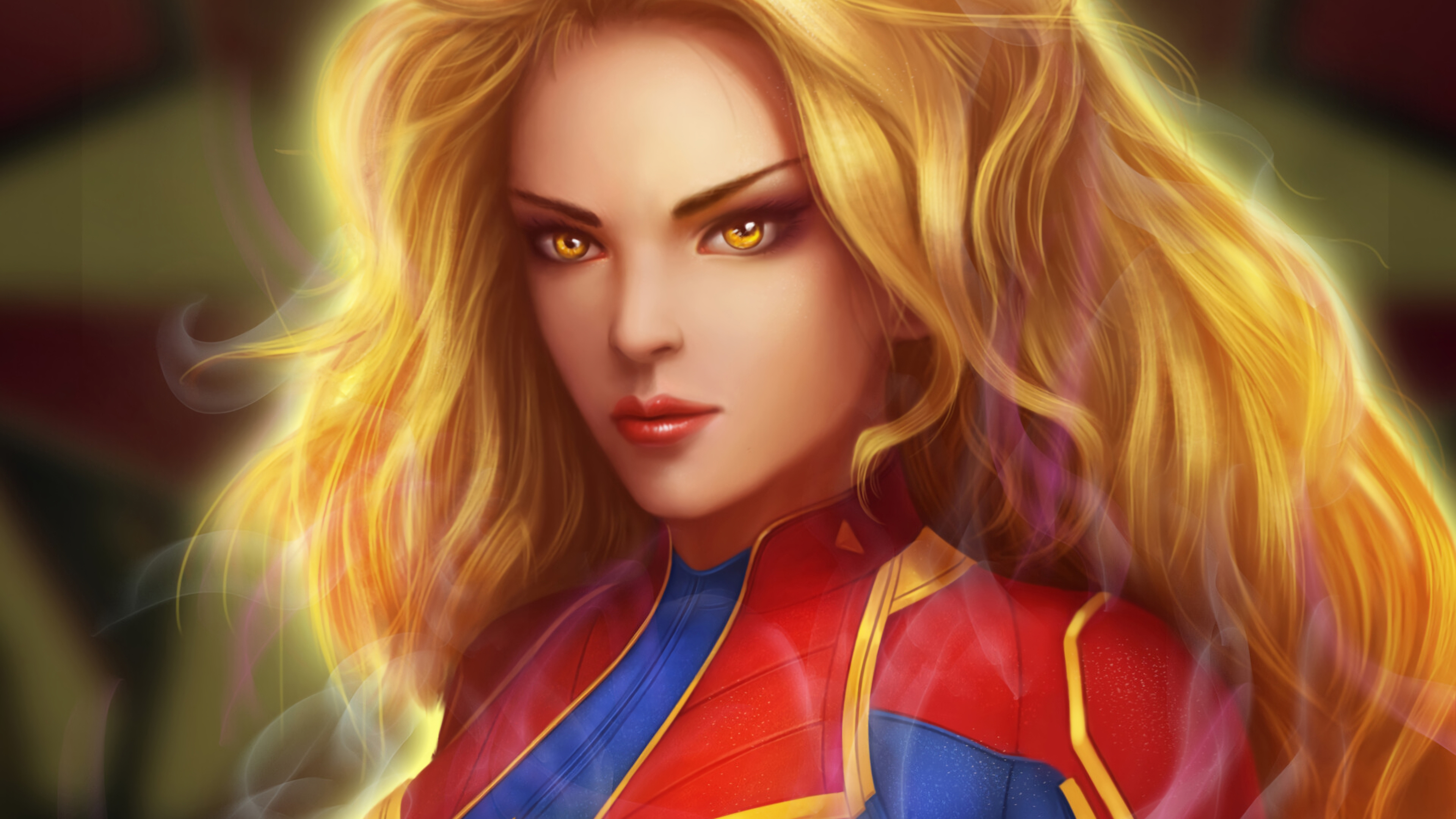 captain marvel close 1568055237 - Captain Marvel Close - superheroes wallpapers, marvel wallpapers, hd-wallpapers, captain marvel wallpapers, artstation wallpapers, 4k-wallpapers
