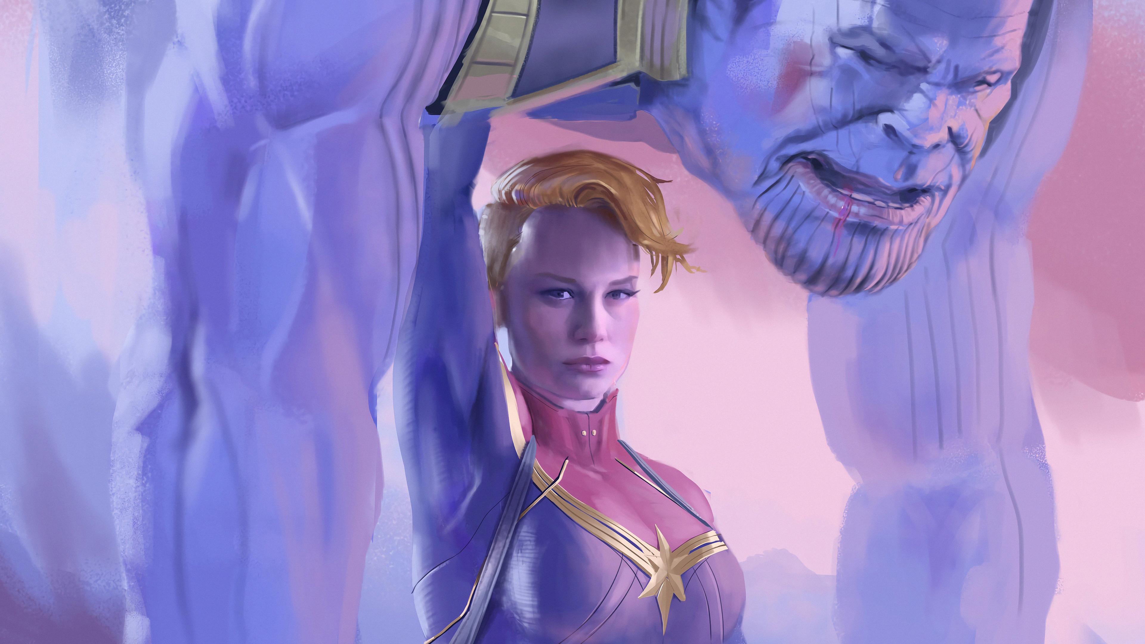 captain marvel defeated thanos 1569186350 - Captain Marvel Defeated Thanos - thanos-wallpapers, superheroes wallpapers, hd-wallpapers, captain marvel wallpapers, artwork wallpapers, 4k-wallpapers