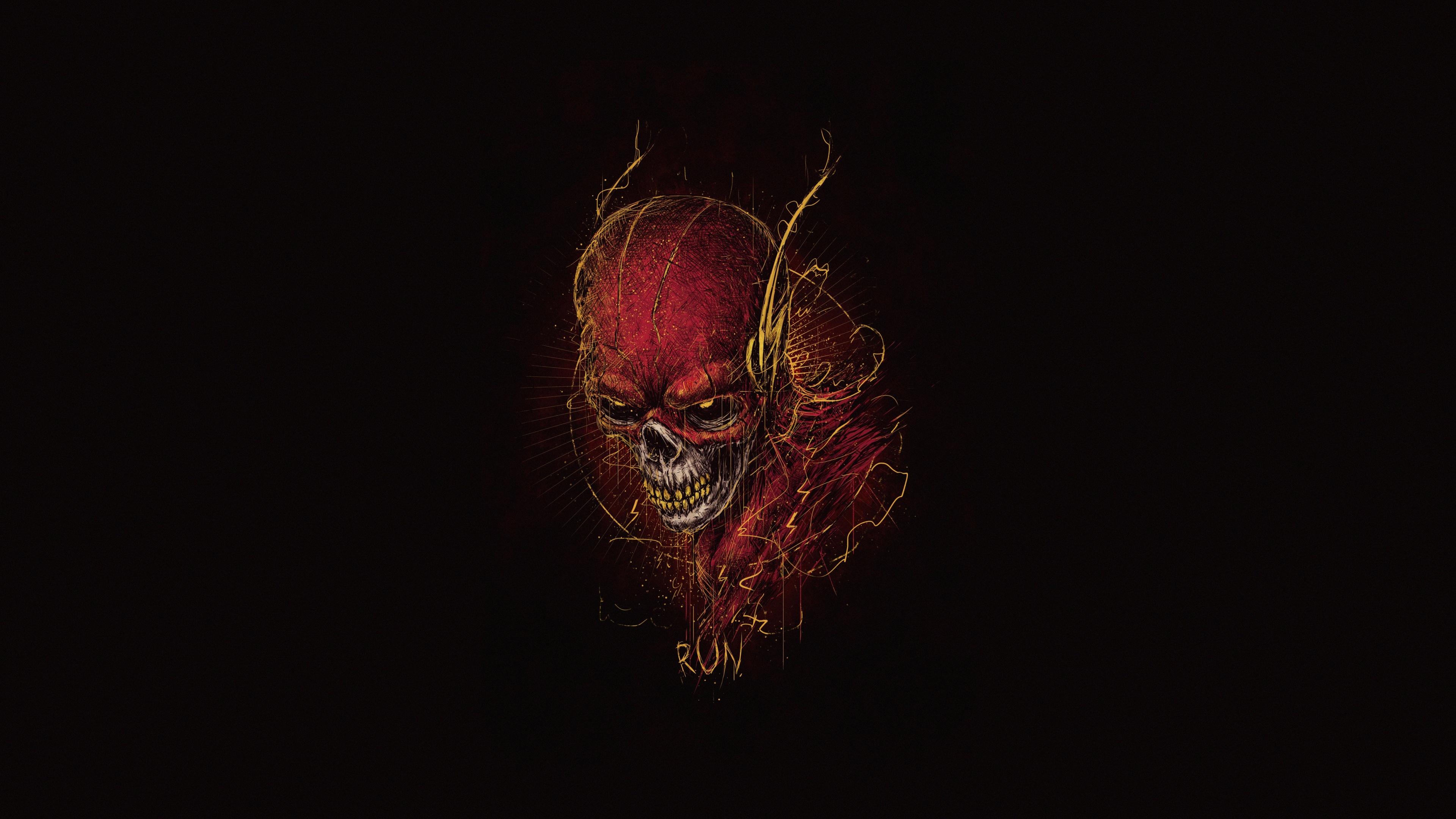 flash skull 1568054444 - Flash Skull - superheroes wallpapers, skull wallpapers, hd-wallpapers, flash wallpapers, digital art wallpapers, artwork wallpapers, artist wallpapers, 5k wallpapers, 4k-wallpapers