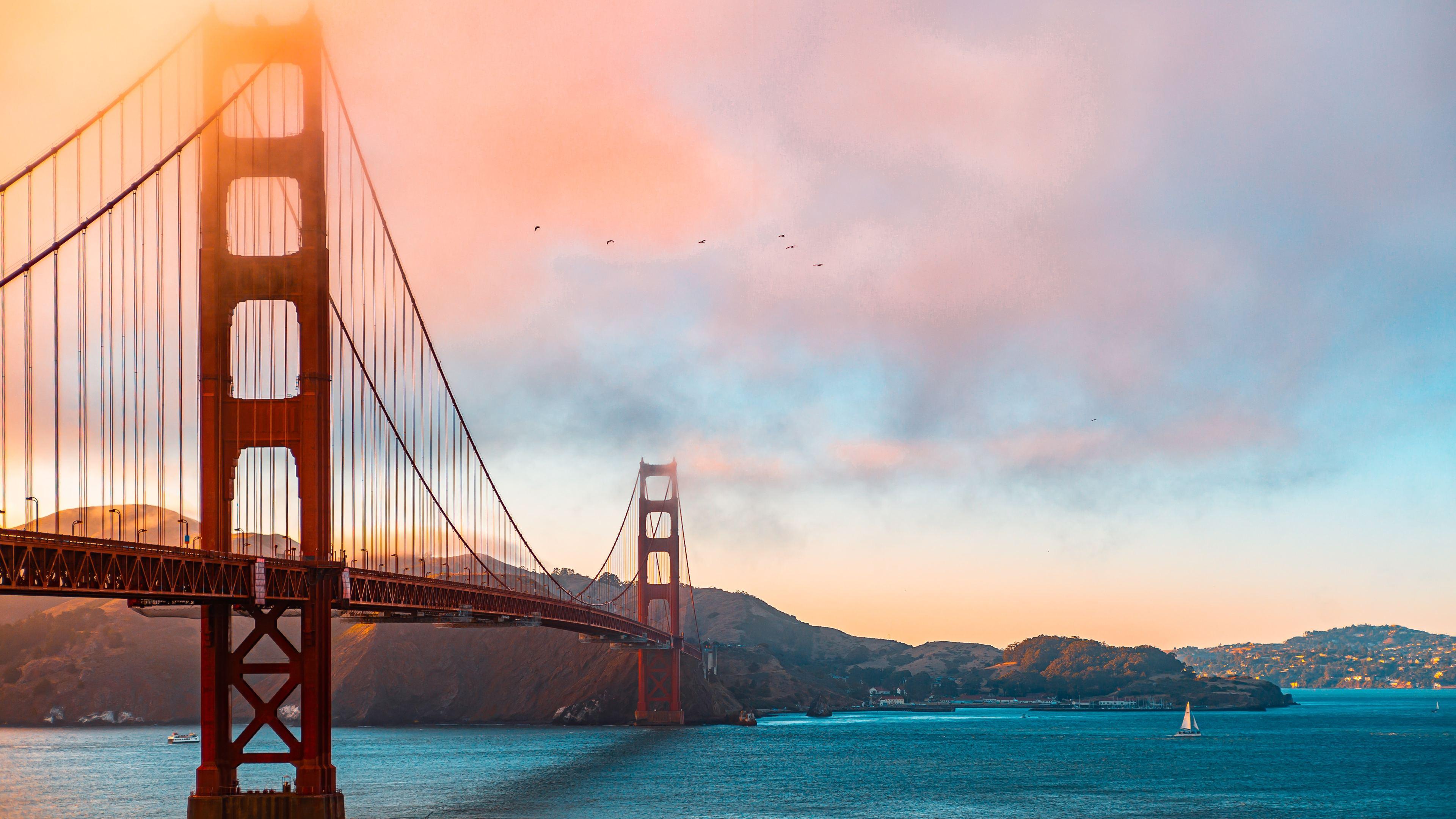 golden gate bridge morning 1569187779 - Golden Gate Bridge Morning - world wallpapers, morning wallpapers, hd-wallpapers, golden gate bridge wallpapers, 5k wallpapers, 4k-wallpapers