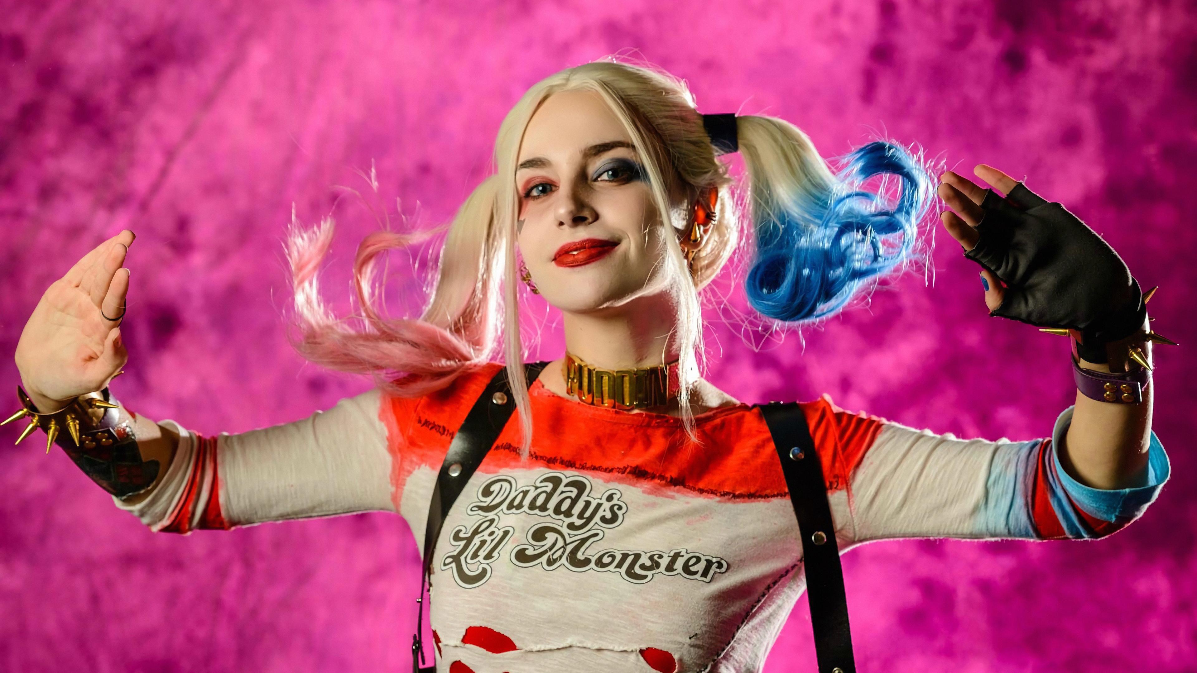 harley quinn cosplay new 1569186659 - Harley Quinn Cosplay New - superheroes wallpapers, hd-wallpapers, harley quinn wallpapers, deviantart wallpapers, cosplay wallpapers, artist wallpapers, 4k-wallpapers