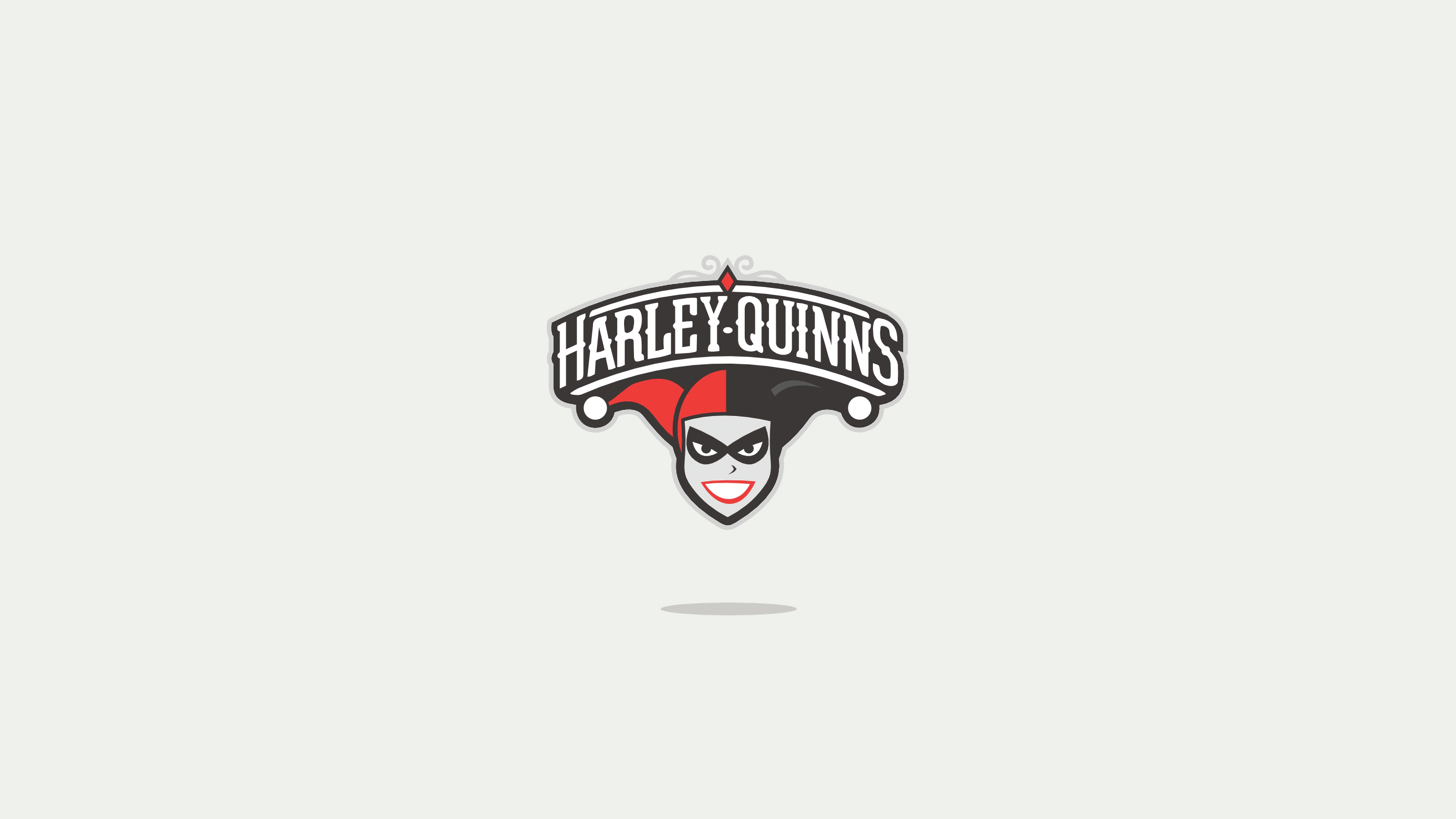 harley quinn minimal logo 1568055513 - Harley Quinn Minimal Logo - superheroes wallpapers, minimalist wallpapers, minimalism wallpapers, hd-wallpapers, harley quinn wallpapers, behance wallpapers, 4k-wallpapers