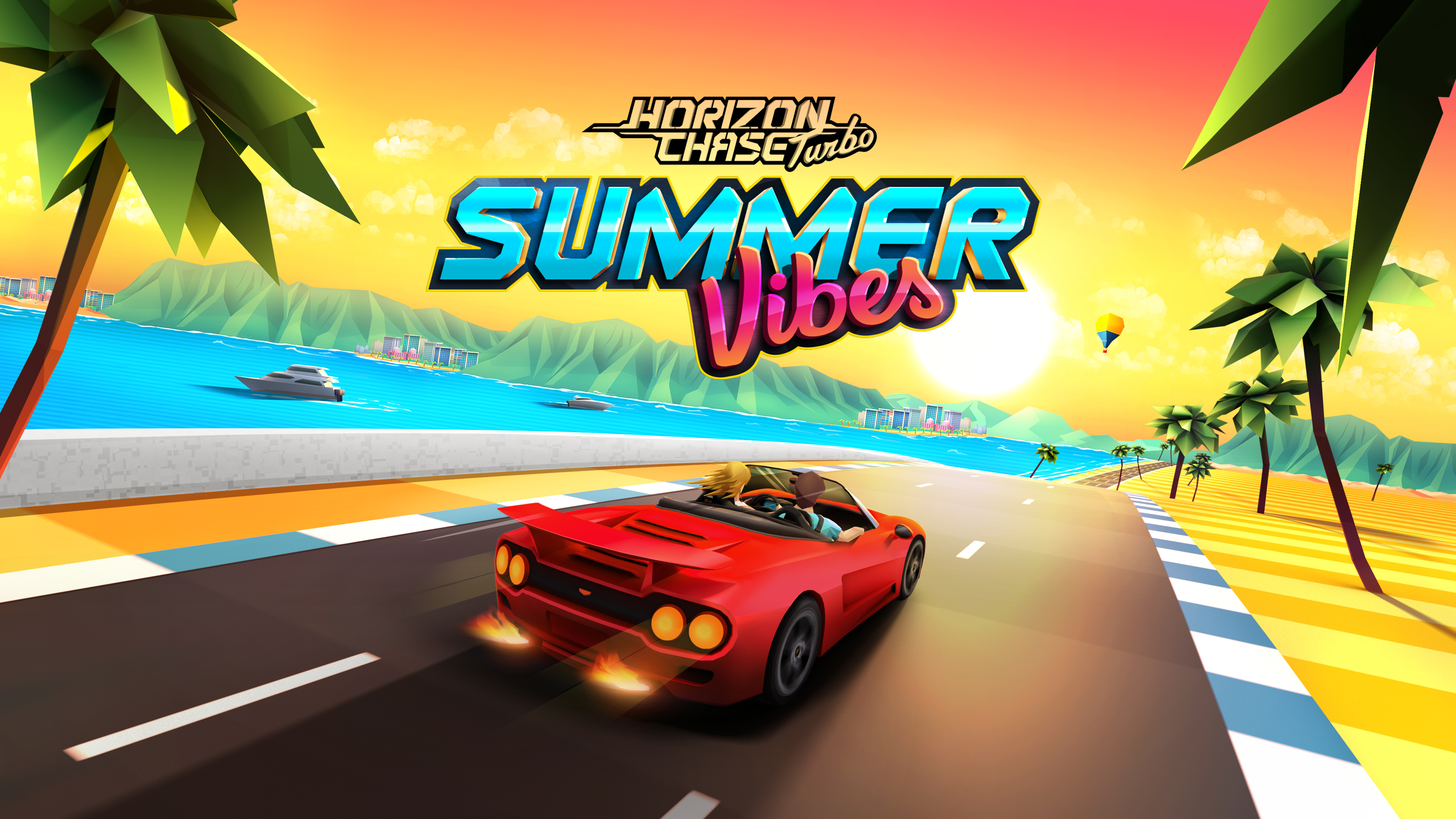 horizon chase turbo summer vibes 1568056354 - Horizon Chase Turbo Summer Vibes - hd-wallpapers, games wallpapers, 4k-wallpapers