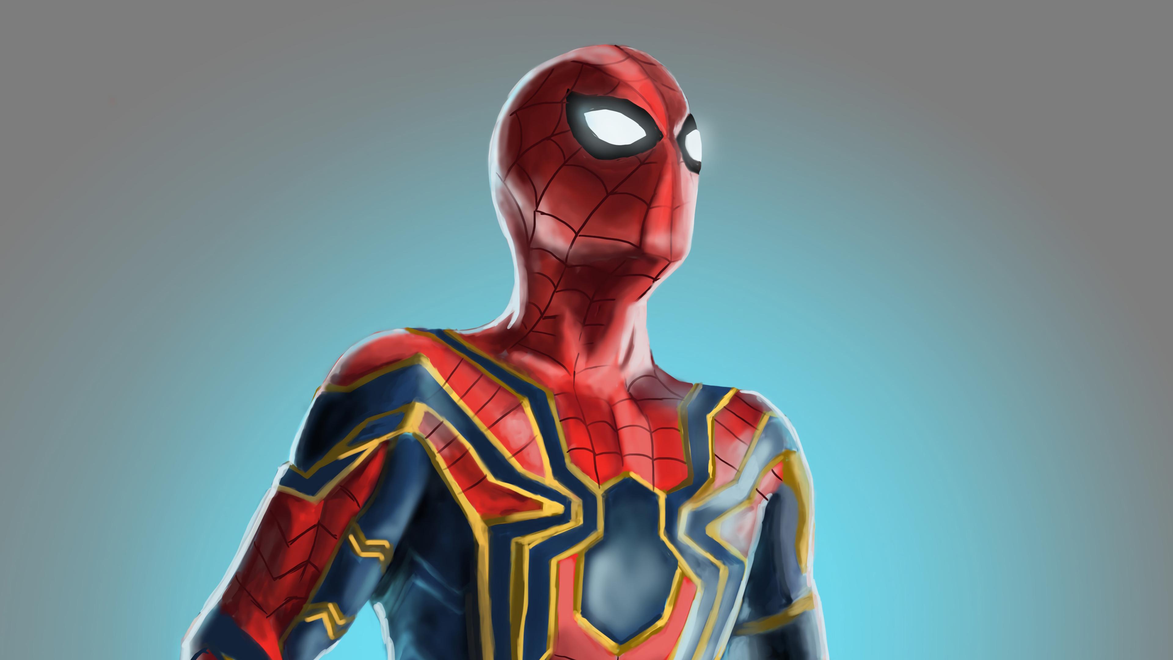 iron spiderman 1568054738 - Iron Spiderman - superheroes wallpapers, spiderman wallpapers, hd-wallpapers, digital art wallpapers, artwork wallpapers, artstation wallpapers, art wallpapers, 4k-wallpapers