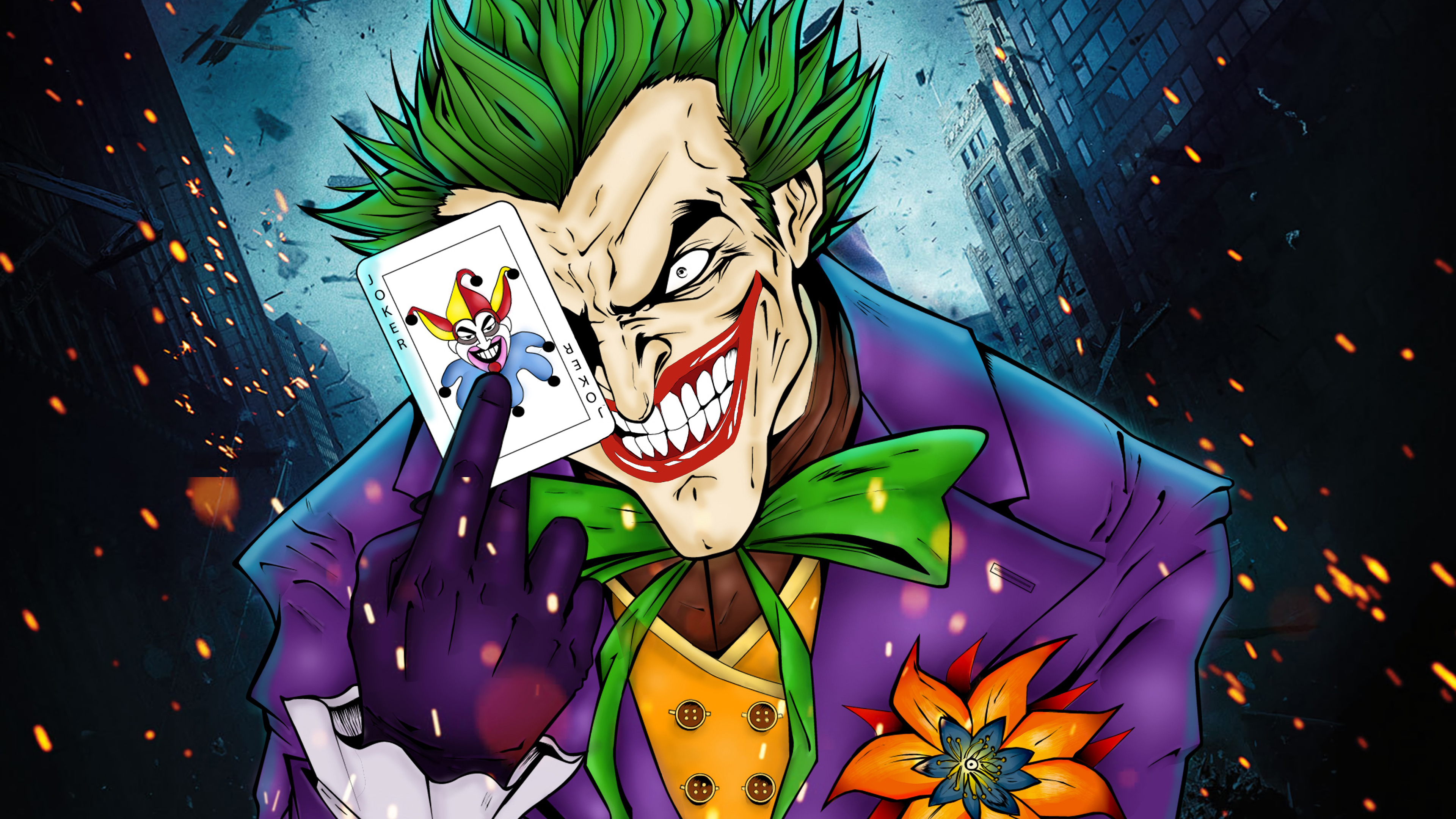 joker art 1568054746 - Joker art - superheroes wallpapers, joker wallpapers, hd-wallpapers, dc comics wallpapers, artstation wallpapers, 4k-wallpapers