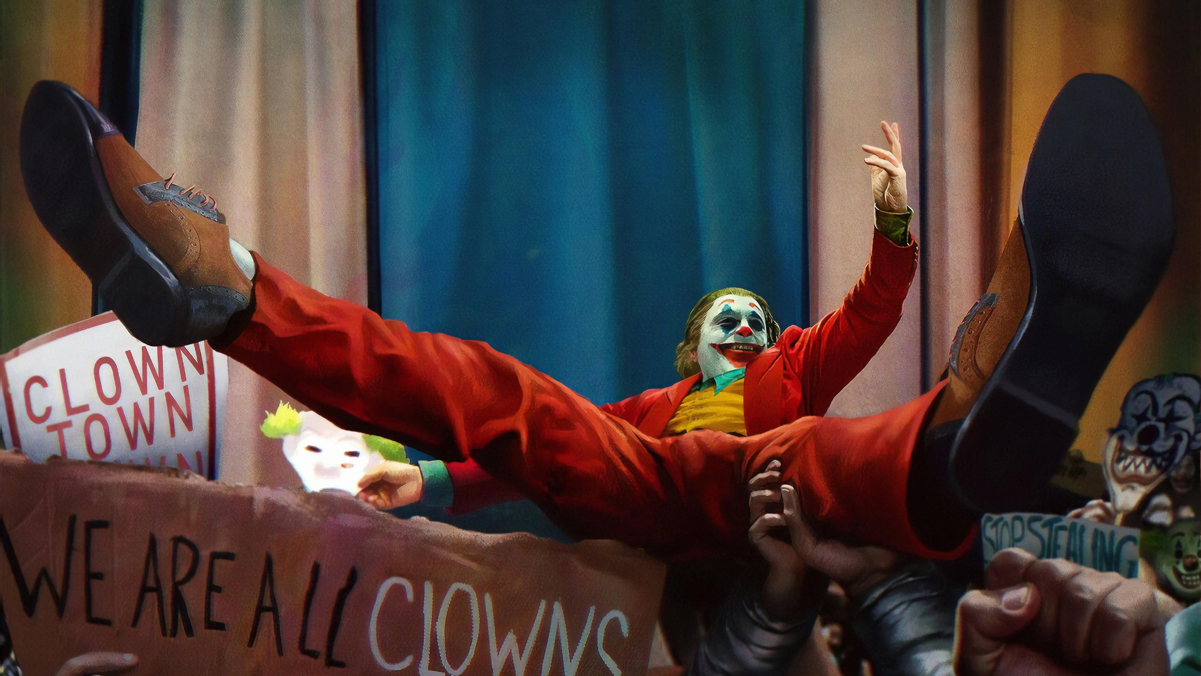 joker clowns 1569186643 - Joker Clowns - supervillain wallpapers, superheroes wallpapers, joker wallpapers, joker movie wallpapers, hd-wallpapers, artwork wallpapers