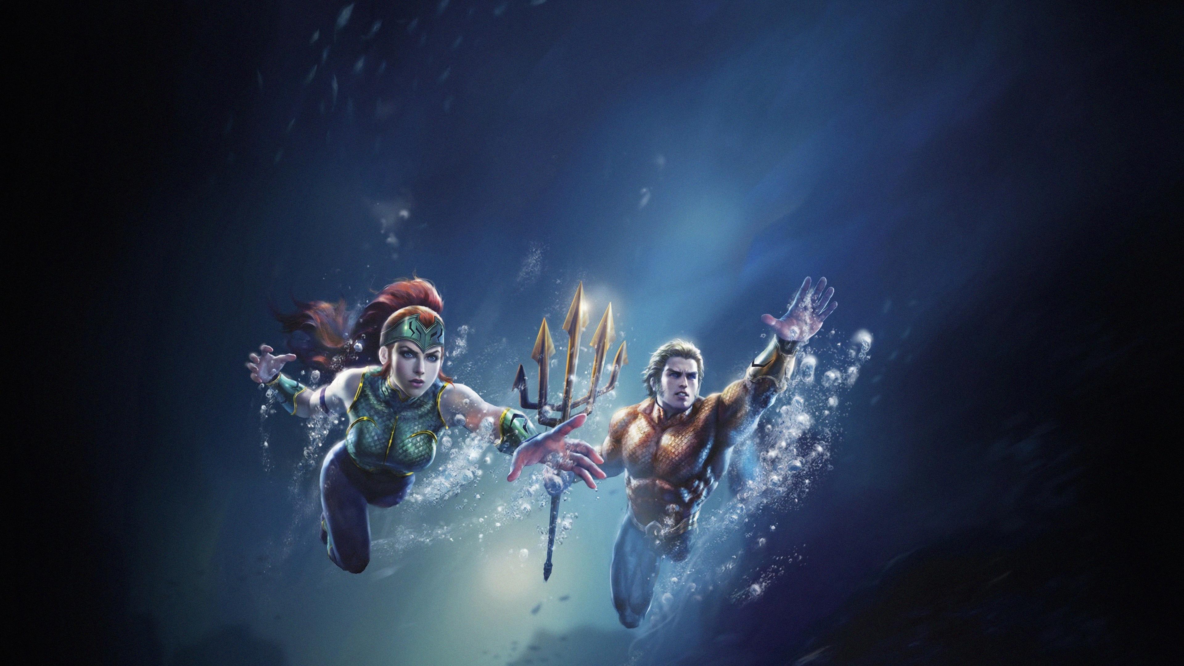 Wallpaper 4k Justice League Throne Of Atlantis 4k Wallpapers