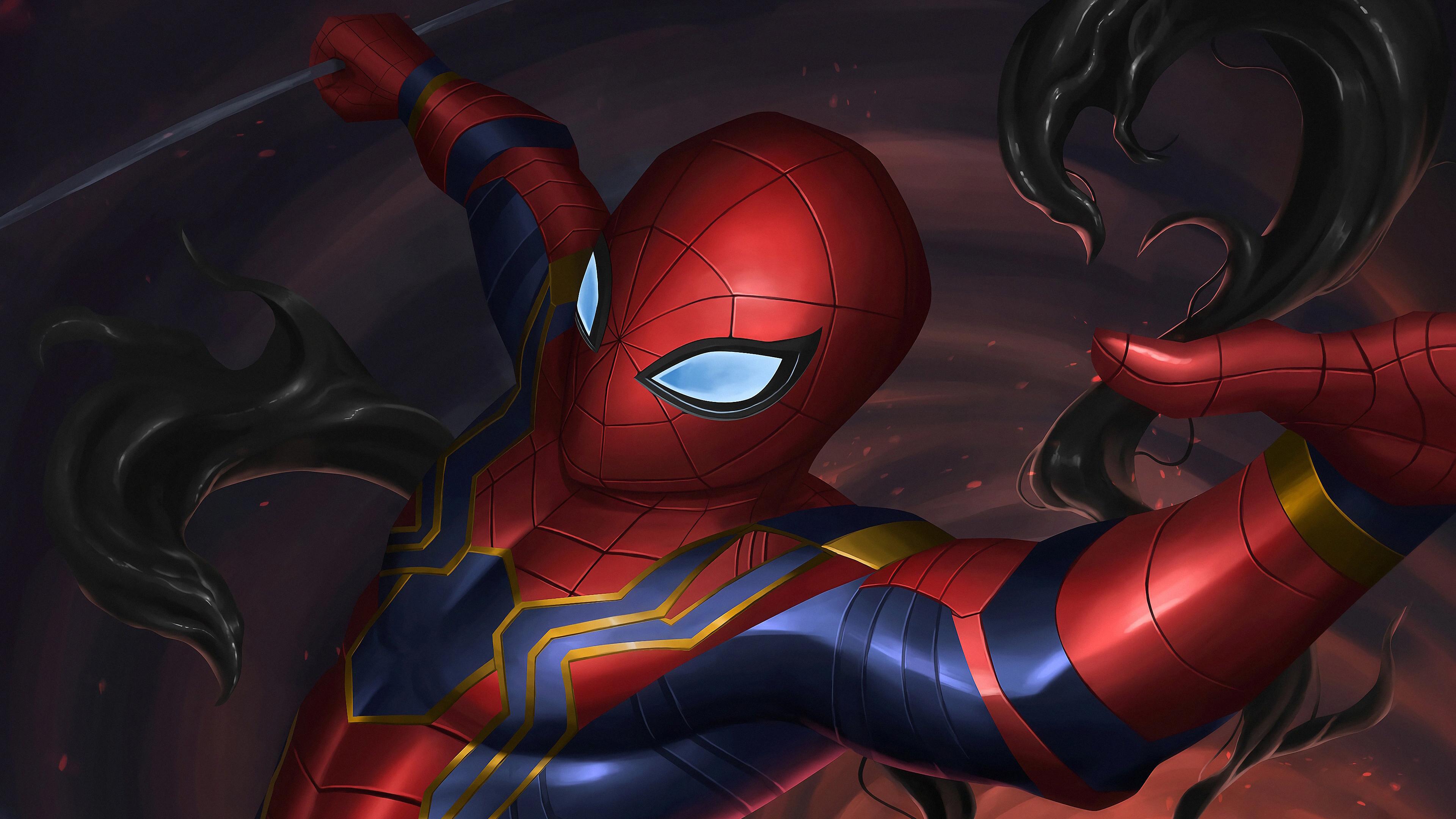 new spider suit 1569186544 - New Spider Suit - superheroes wallpapers, spiderman wallpapers, hd-wallpapers, digital art wallpapers, artwork wallpapers, artstation wallpapers, art wallpapers, 4k-wallpapers