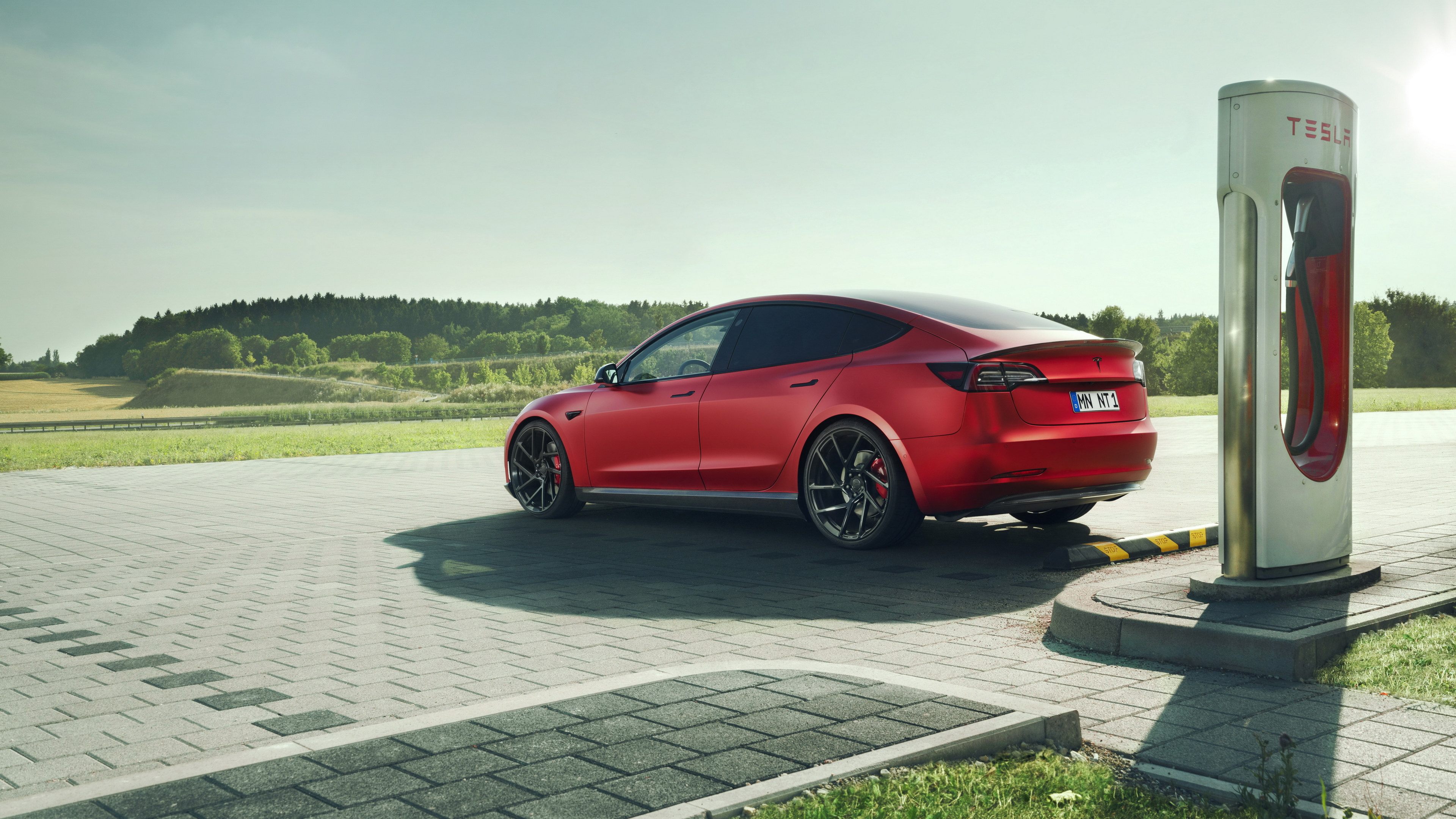 Wallpaper 4k Novitec Tesla Model 3 2019 Charging Port 2019