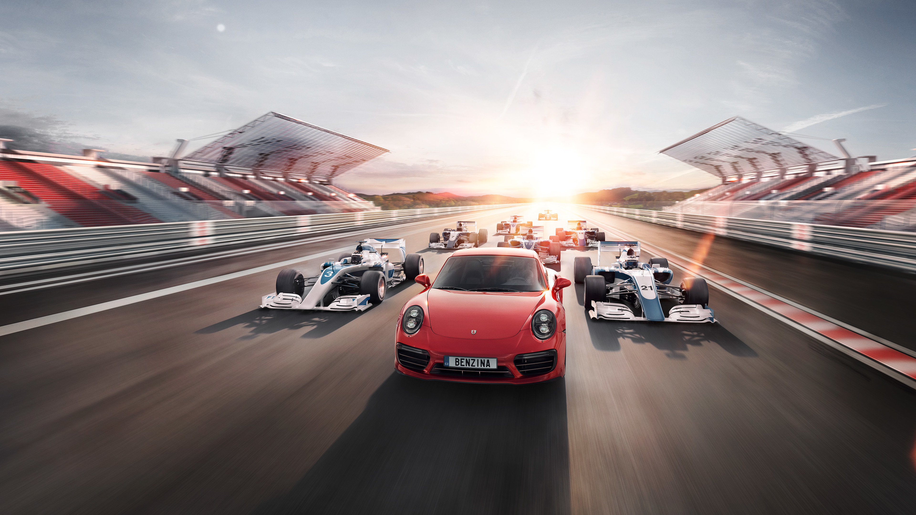porsche and f1 car 1569188467 - Porsche And F1 Car - porsche wallpapers, hd-wallpapers, cars wallpapers, behance wallpapers, 4k-wallpapers