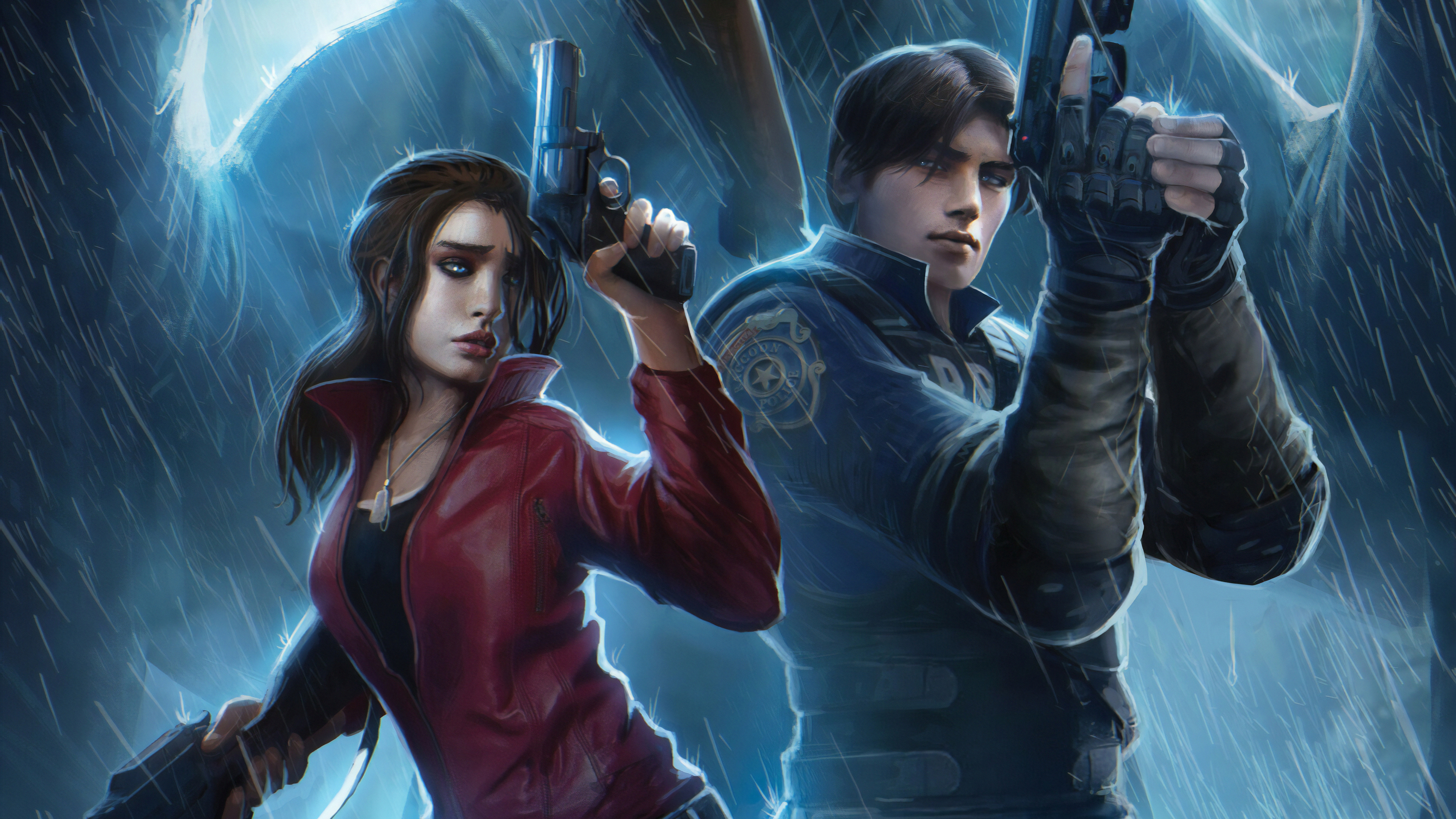 resident evil claire redfield chris redfield art 1568056385 - Resident Evil Claire Redfield Chris Redfield Art - resident evil 2 wallpapers, hd-wallpapers, games wallpapers, digital art wallpapers, claire redfield wallpapers, artwork wallpapers, artstation wallpapers, artist wallpapers, 4k-wallpapers