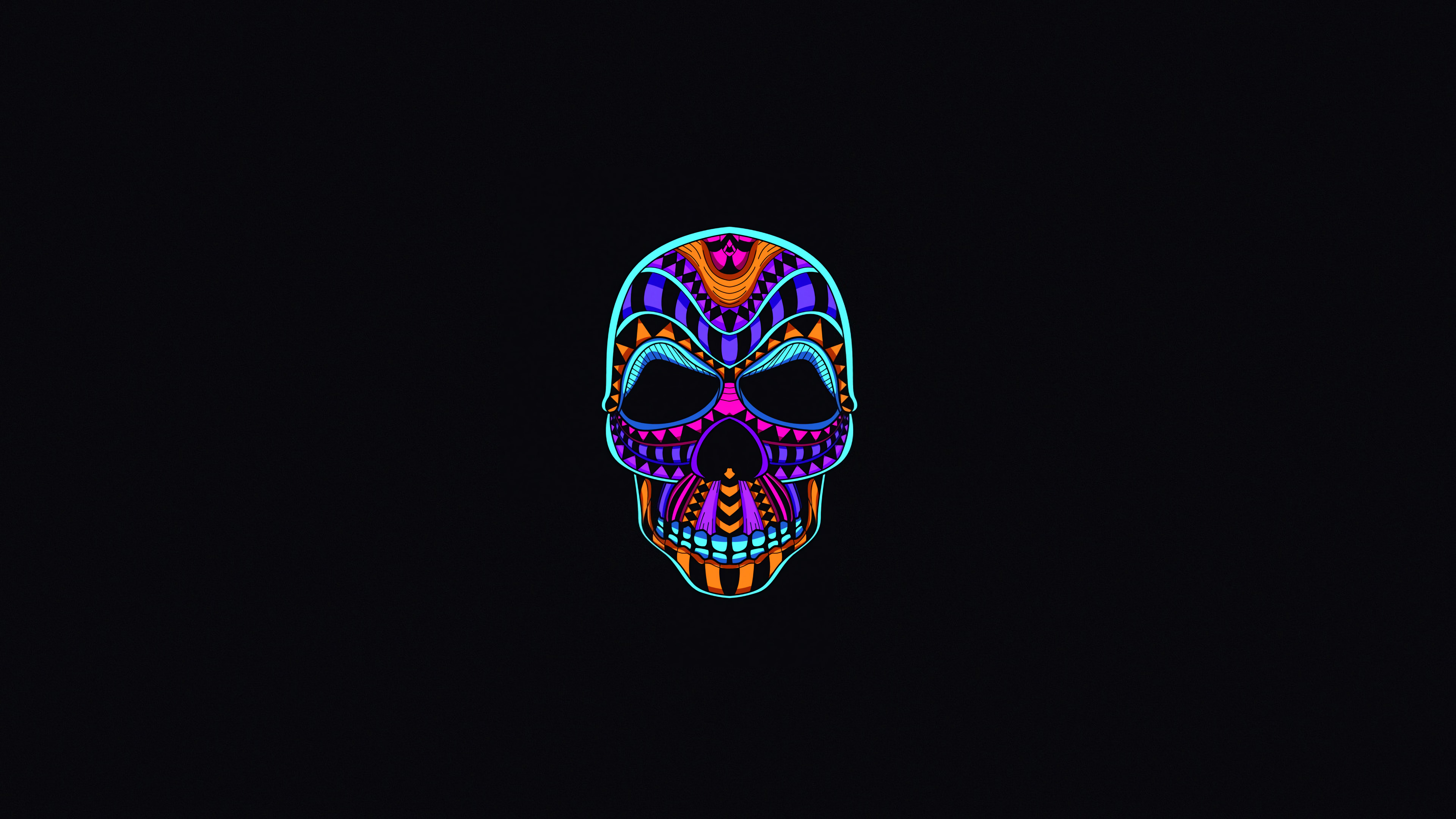 Wallpaper 4k Skull Dark Minimal 4k Wallpapers Black
