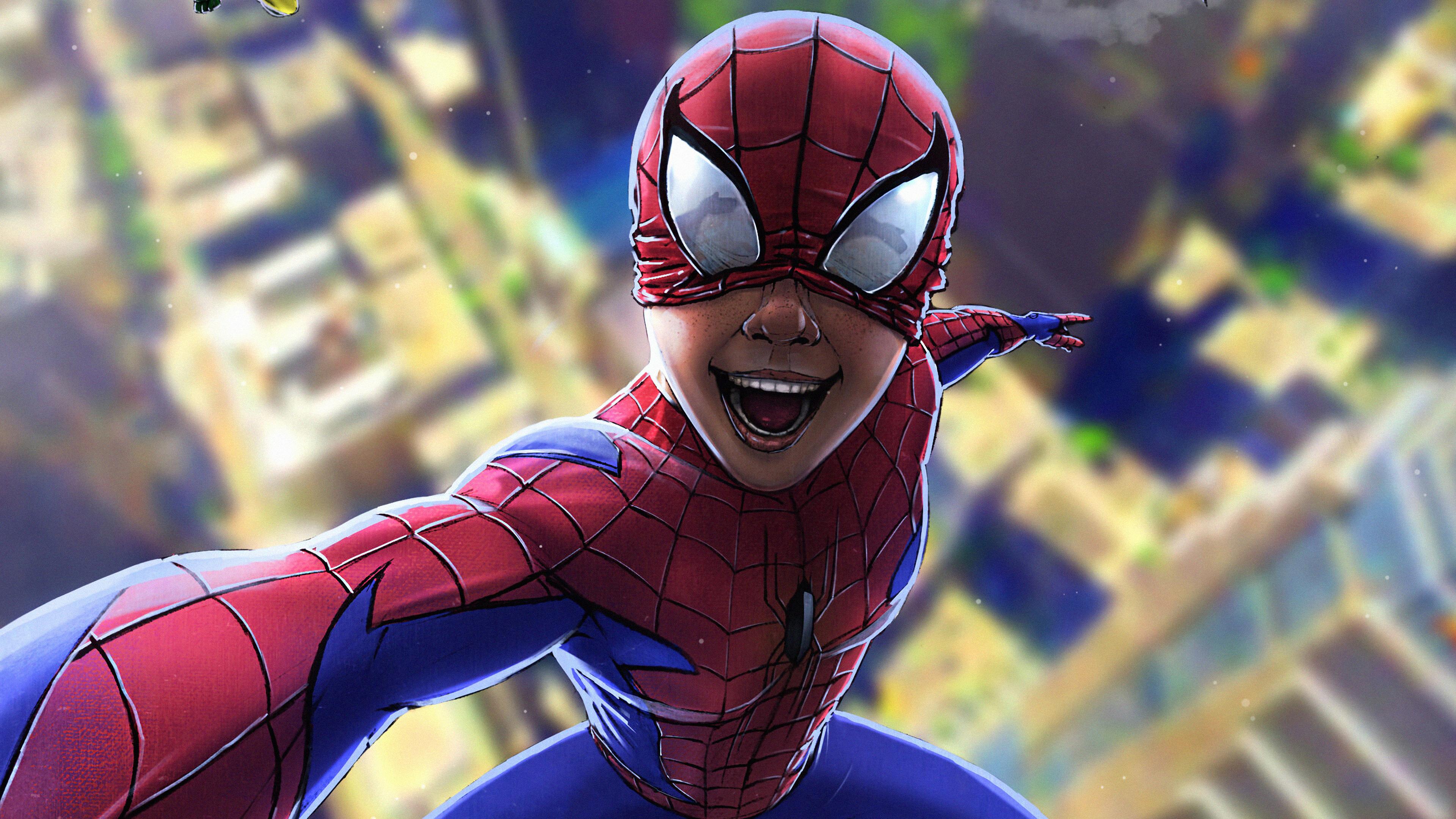 spiderman into the spider selfie 1569186782 - Spiderman Into The Spider Selfie - superheroes wallpapers, spiderman wallpapers, poster wallpapers, hd-wallpapers, artstation wallpapers, 4k-wallpapers