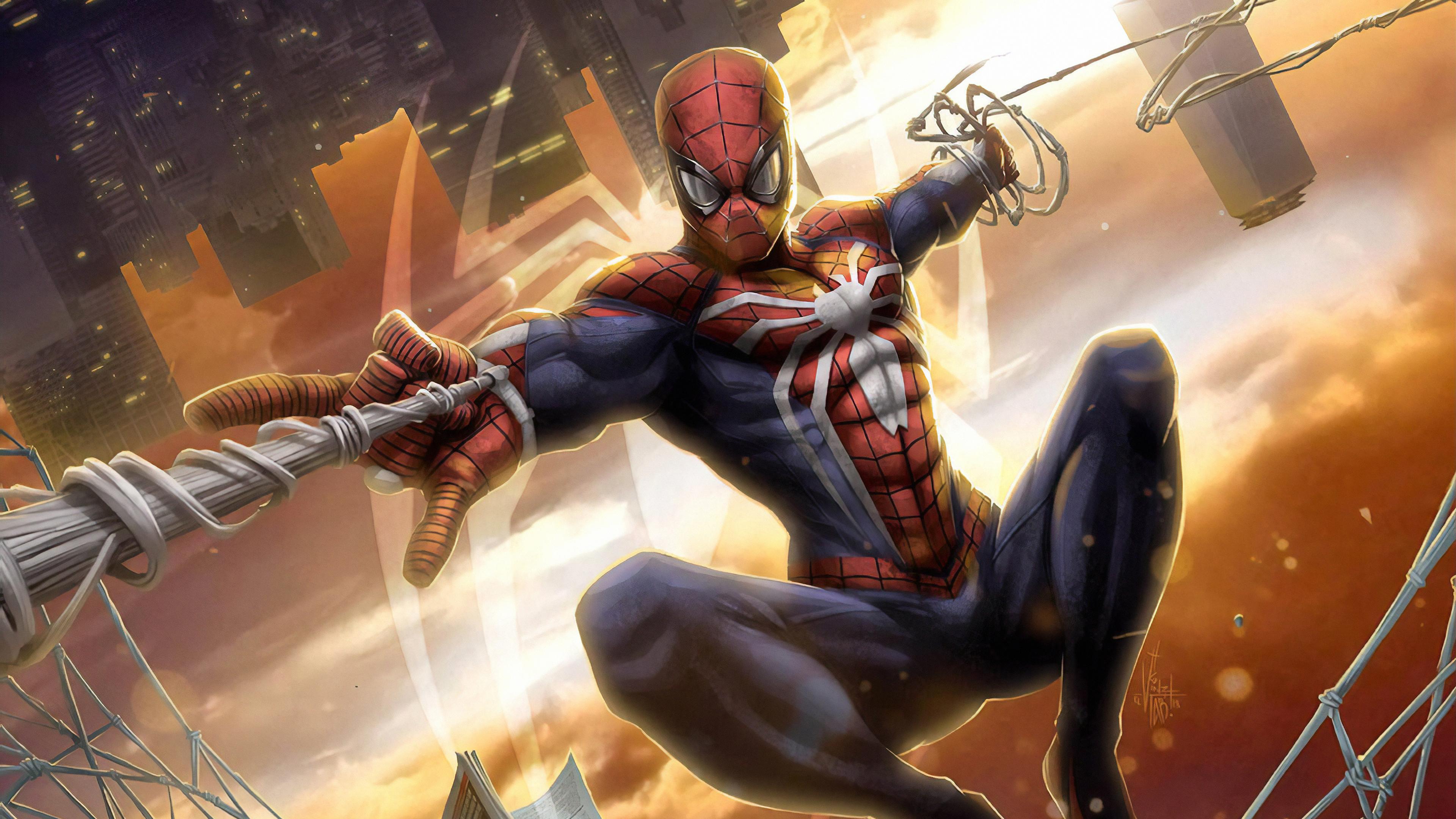 spiderman new york city 1568054983 - Spiderman New York City - superheroes wallpapers, spiderman wallpapers, hd-wallpapers, digital art wallpapers, artwork wallpapers, artstation wallpapers, art wallpapers, 4k-wallpapers