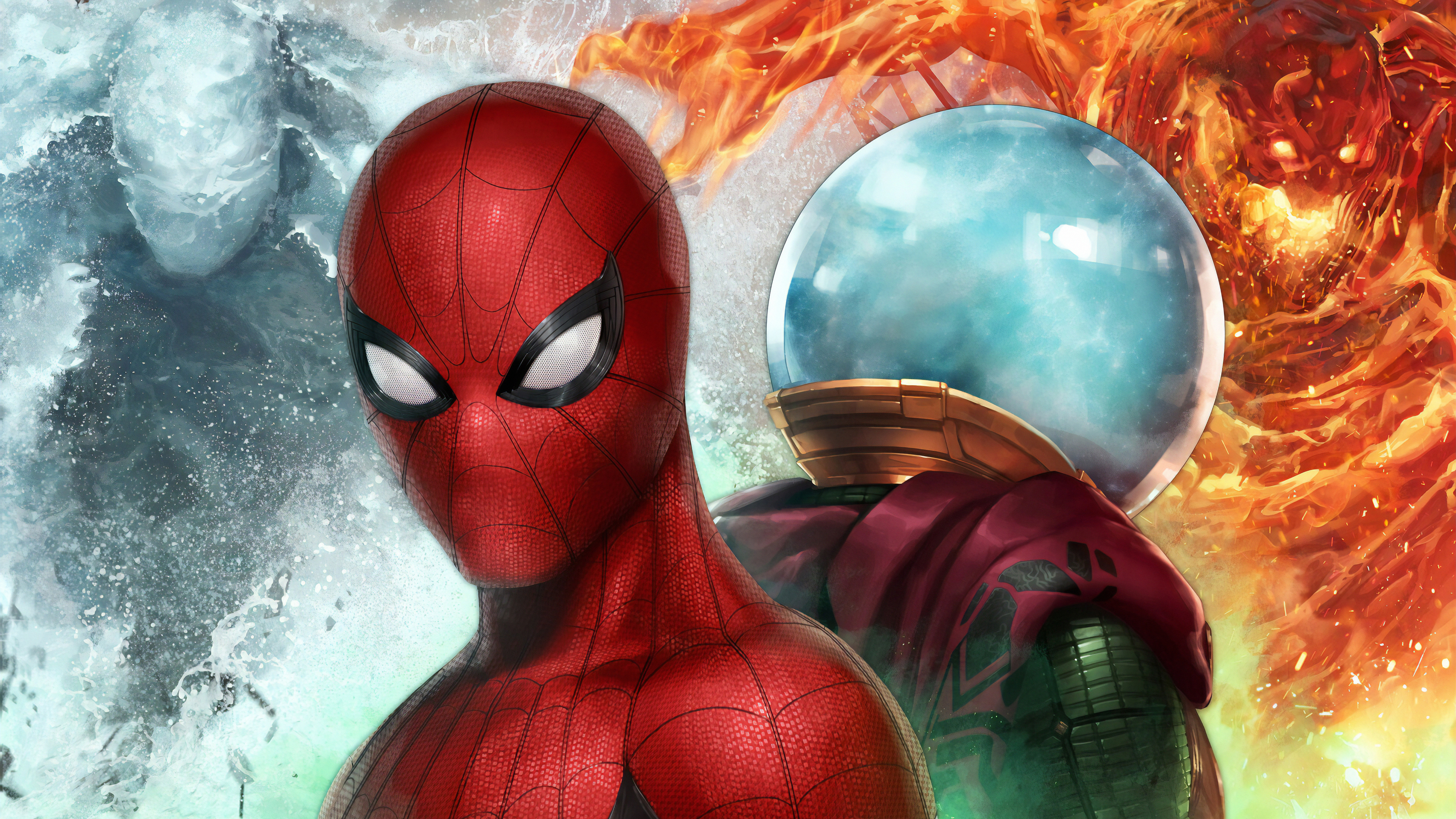 spiderman vs mysterio in marvel future fight 1568056370 - Spiderman Vs Mysterio In Marvel Future Fight - superheroes wallpapers, spiderman wallpapers, mysterio wallpapers, marvel future fight wallpapers, hd-wallpapers, games wallpapers, 4k-wallpapers