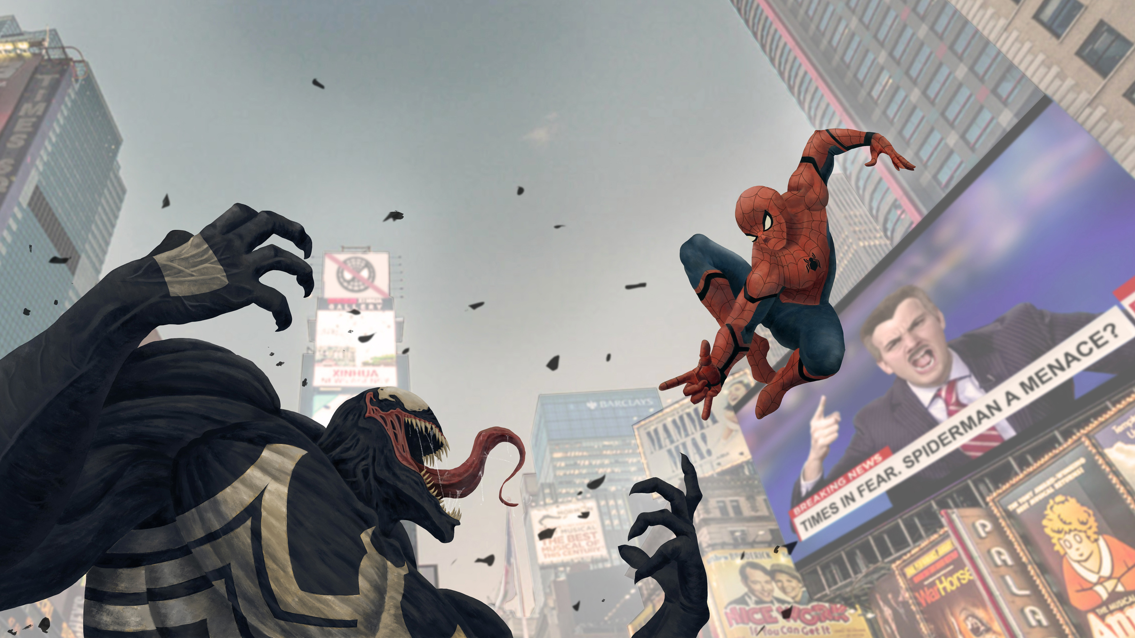 spiderman vs venom menace 1569186254 - Spiderman Vs Venom Menace - Venom wallpapers, superheroes wallpapers, spiderman wallpapers, hd-wallpapers, behance wallpapers, artwork wallpapers, artist wallpapers, 4k-wallpapers