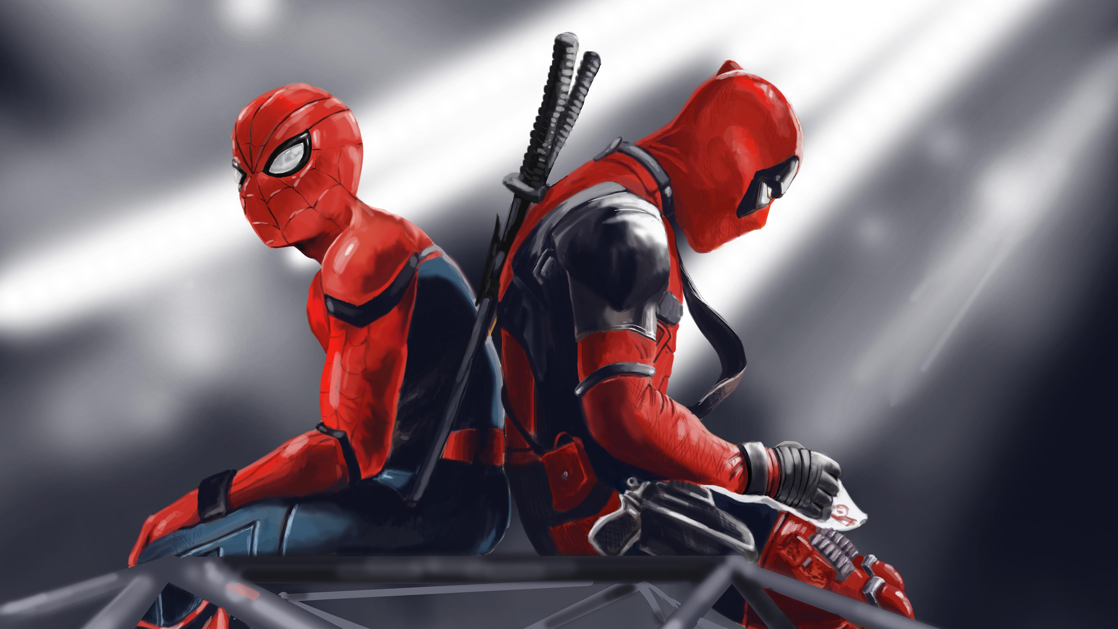 spidey and deadpool 1568054238 - Spidey And Deadpool - superheroes wallpapers, spiderman wallpapers, hd-wallpapers, deadpool wallpapers, behance wallpapers, artwork wallpapers, 4k-wallpapers