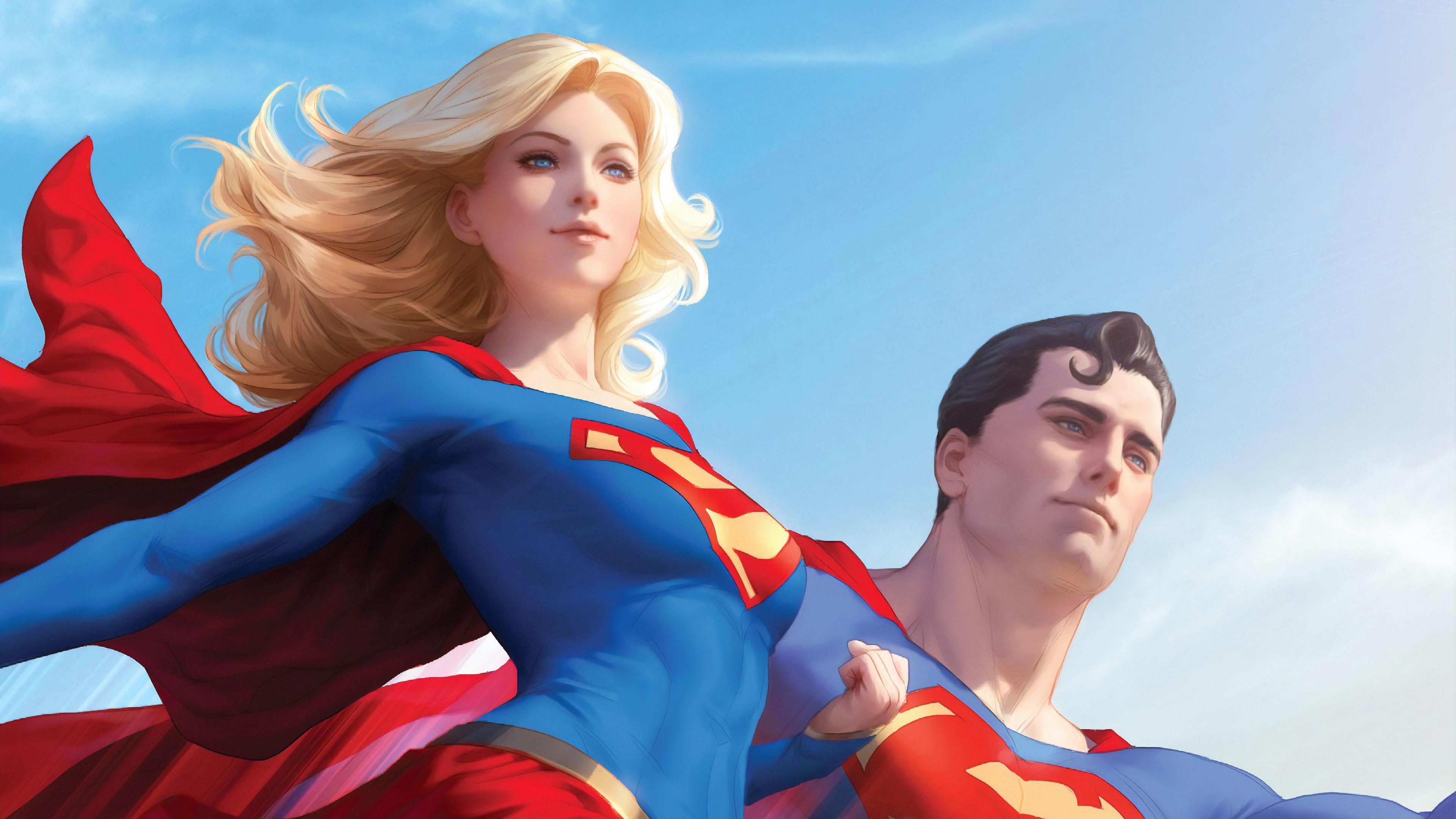 superman and supergirl 1569186756 - Superman And Supergirl - superman wallpapers, superheroes wallpapers, supergirl wallpapers, hd-wallpapers, artwork wallpapers, 4k-wallpapers