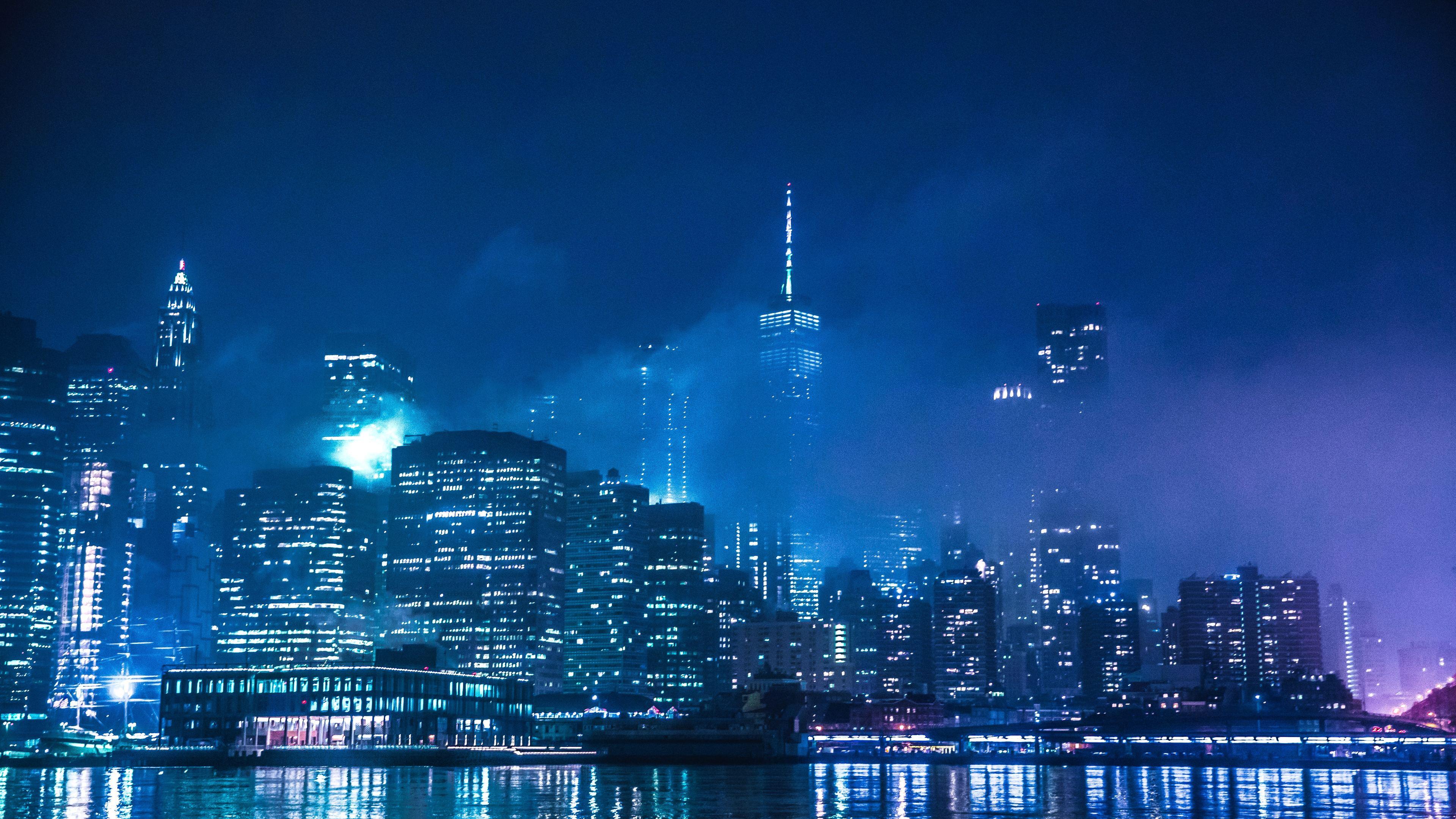the lights of new york 1569187793 - The Lights Of New York - world wallpapers, new york wallpapers, hd-wallpapers, city wallpapers, 5k wallpapers, 4k-wallpapers