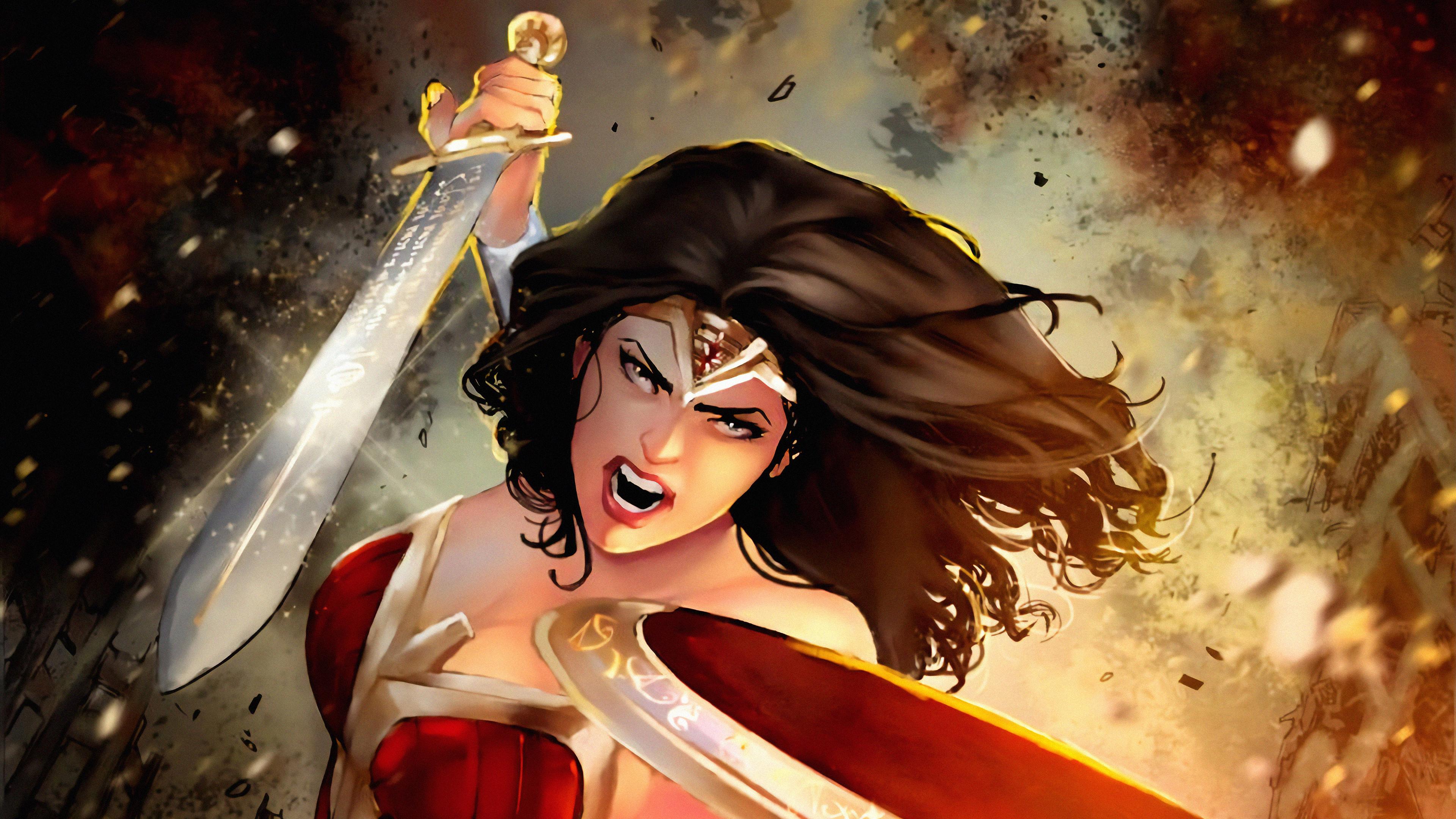 warrior wonder woman art 1569186663 - Warrior Wonder Woman Art - wonder woman wallpapers, superheroes wallpapers, hd-wallpapers, digital art wallpapers, deviantart wallpapers, artwork wallpapers, artist wallpapers, 4k-wallpapers