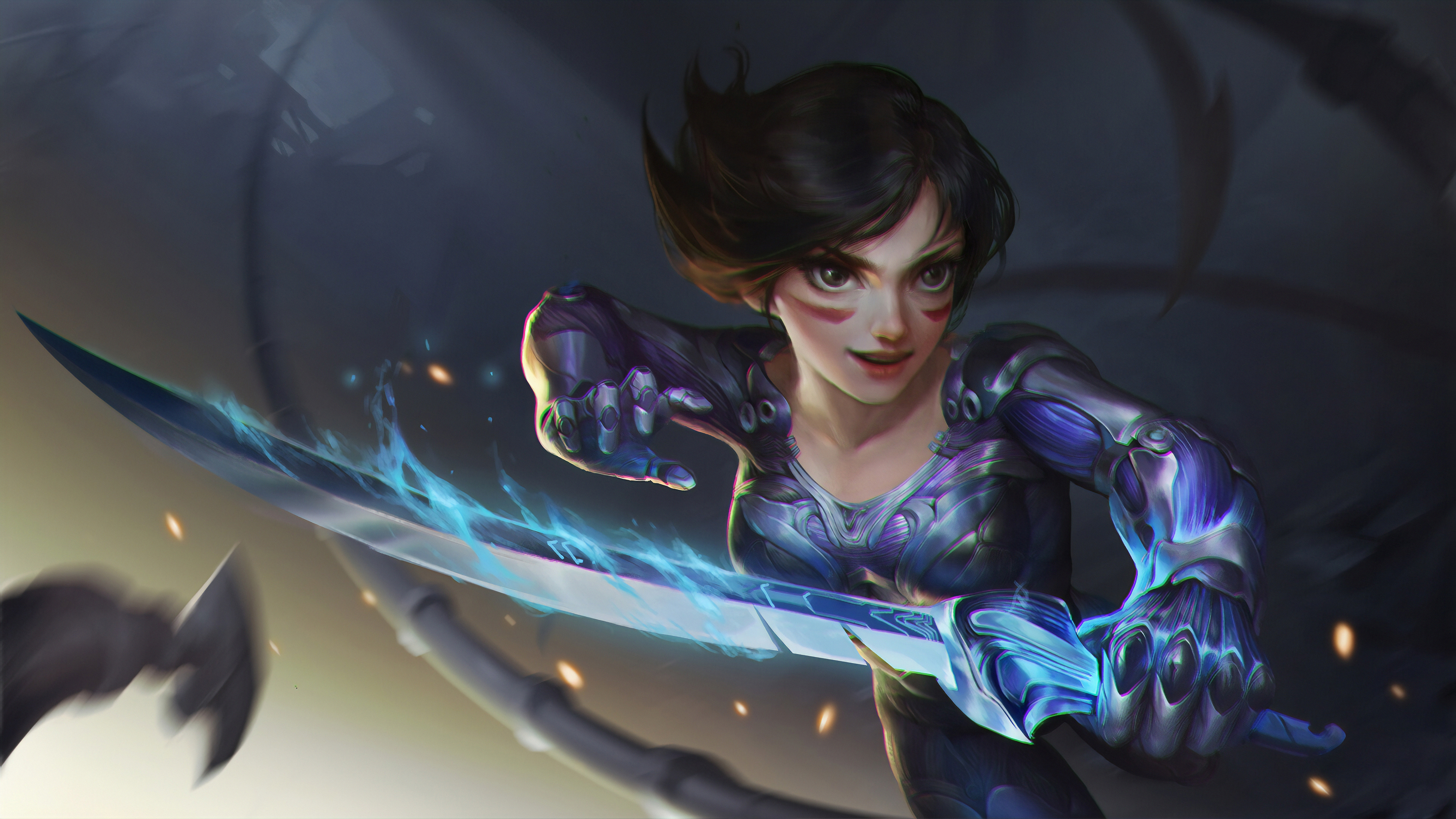 alita battle angel hero 1570394399 - Alita Battle Angel Hero - hd-wallpapers, artwork wallpapers, artstation wallpapers, artist wallpapers, alita battle angel wallpapers