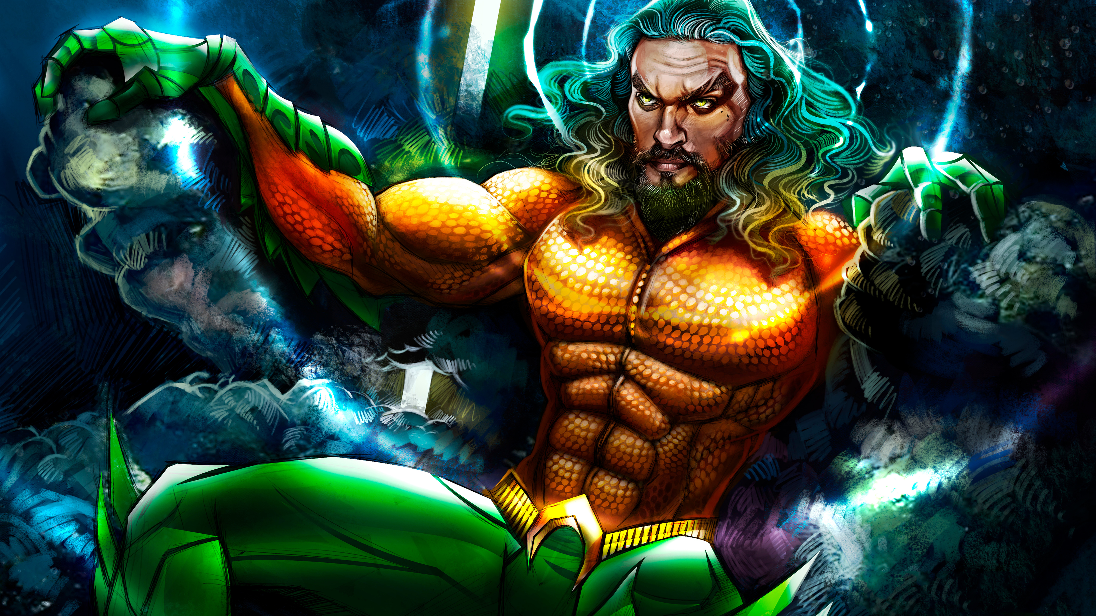 aquaman art 1570918658 - Aquaman Art - superheroes wallpapers, hd-wallpapers, artwork wallpapers, aquaman wallpapers, 8k wallpapers, 5k wallpapers, 4k-wallpapers