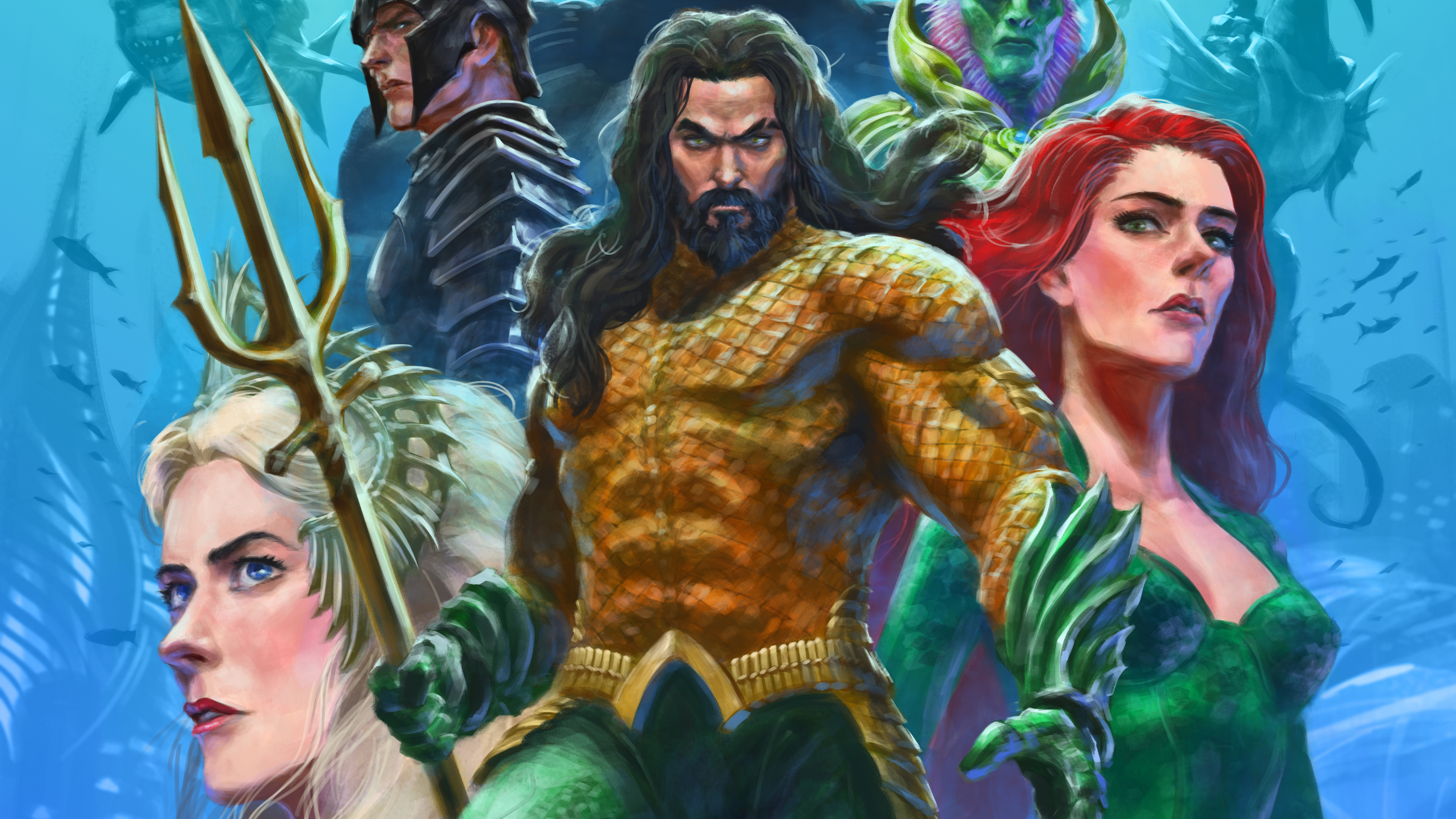 aquaman mera artwork 1570918548 - Aquaman Mera Artwork - superheroes wallpapers, mera wallpapers, hd-wallpapers, artwork wallpapers, aquaman wallpapers, 4k-wallpapers