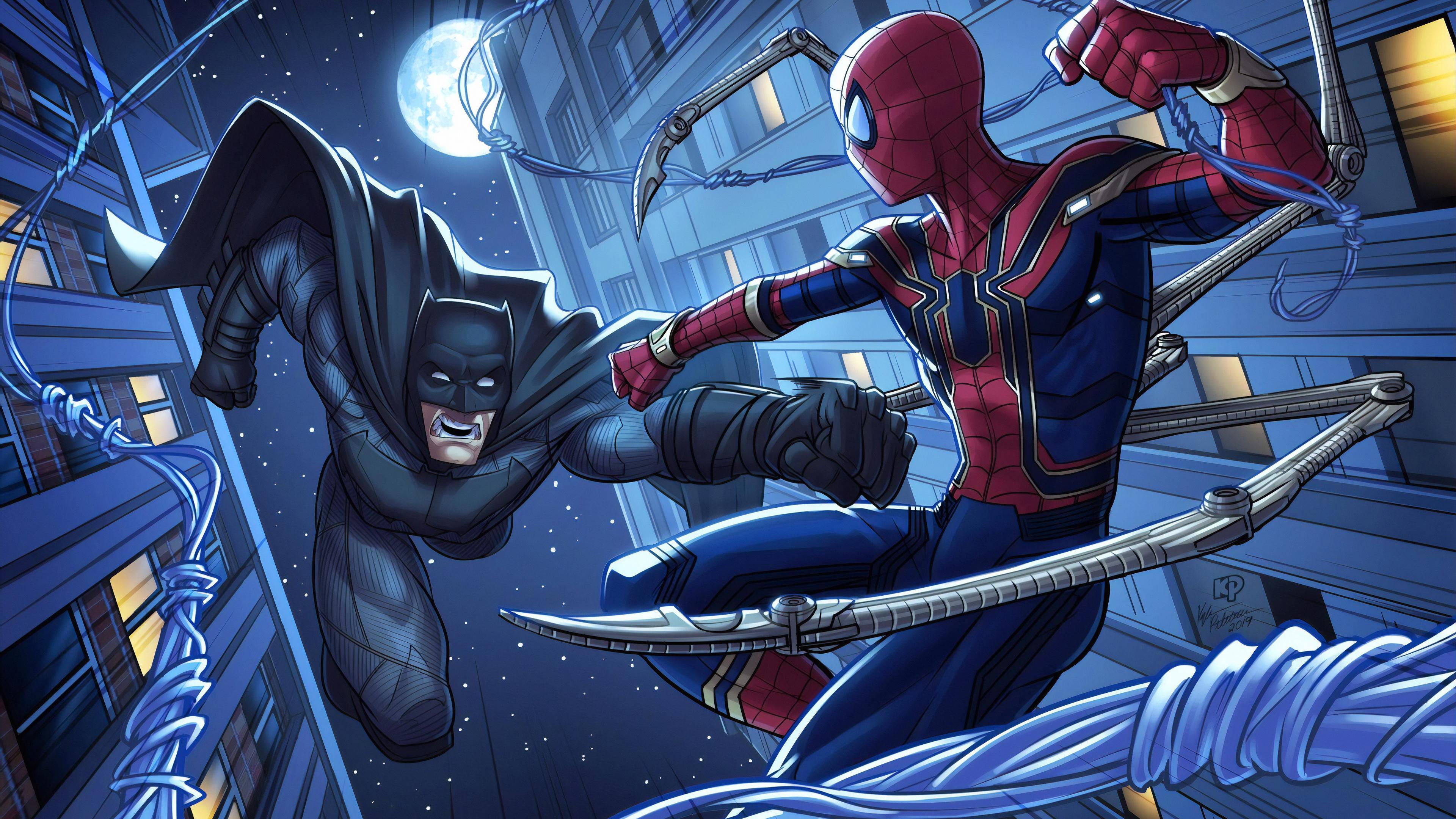 batman and spiderman 1570394309 - Batman And Spiderman - superheroes wallpapers, spiderman wallpapers, hd-wallpapers, batman wallpapers, artwork wallpapers, 4k-wallpapers