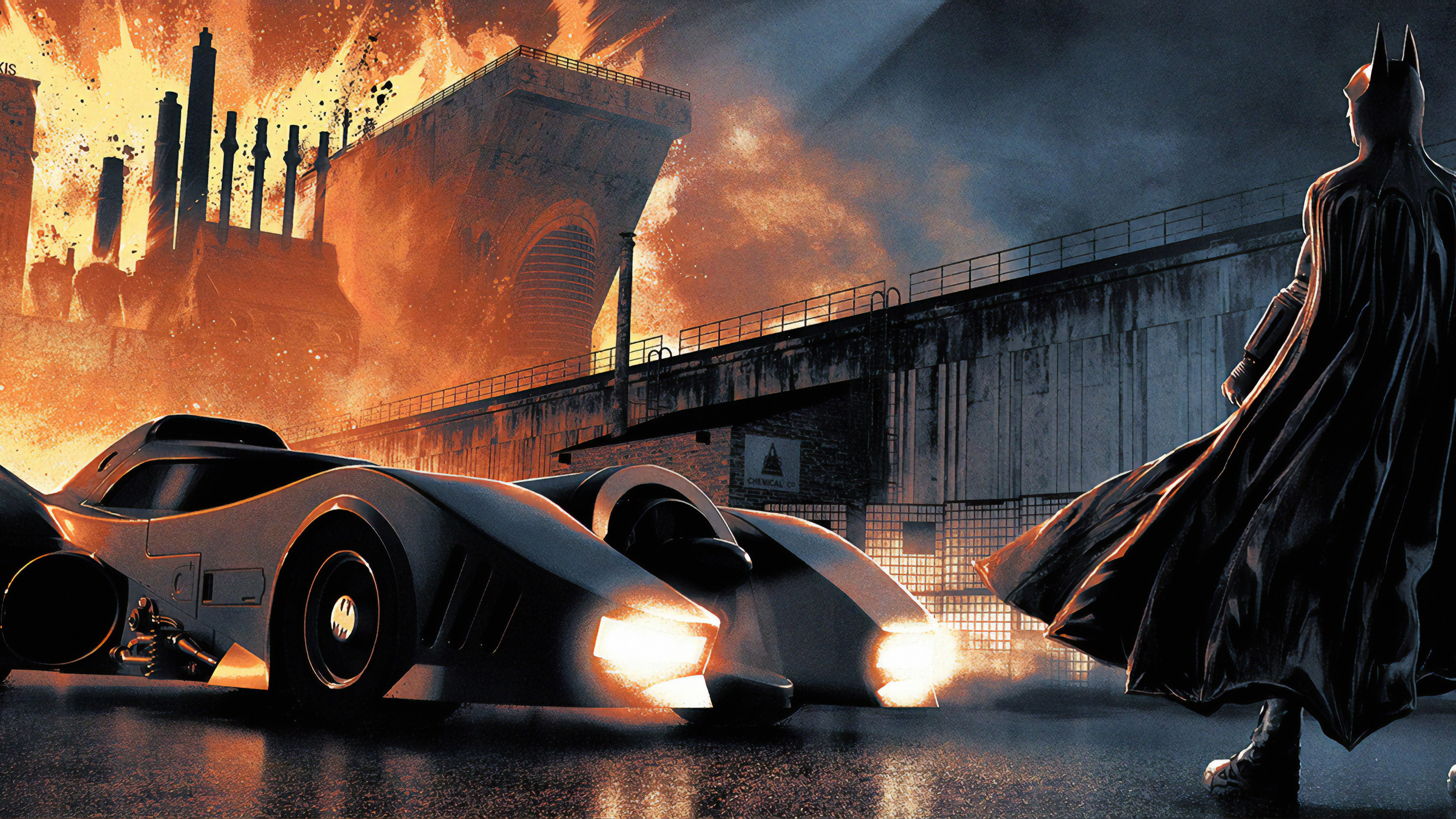 batman nad batmobile 1570918441 - Batman Nad Batmobile - superheroes wallpapers, hd-wallpapers, digital art wallpapers, batman wallpapers, artwork wallpapers, 4k-wallpapers