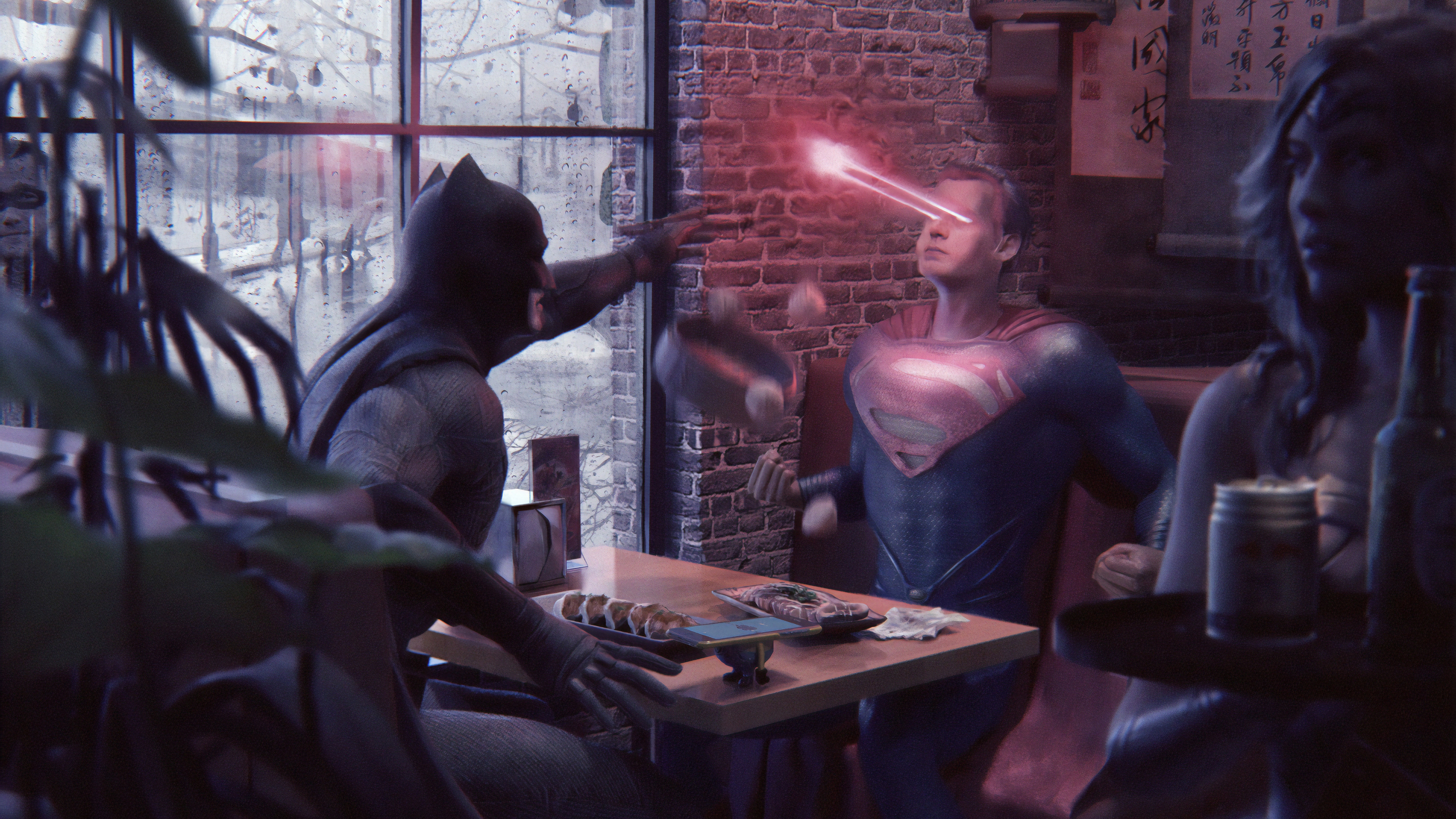 batman superman laser eye 1572368667 - Batman Superman Laser Eye - superman wallpapers, superheroes wallpapers, hd-wallpapers, digital art wallpapers, batman wallpapers, artwork wallpapers, 4k-wallpapers