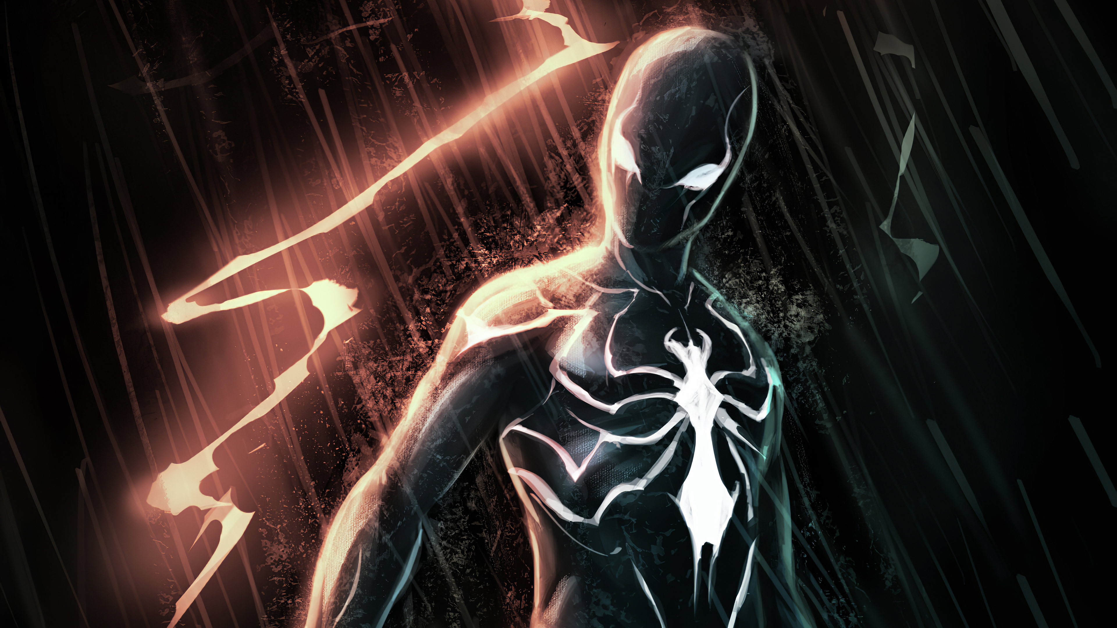 black spiderman in dark 1572368765 - Black Spiderman In Dark - superheroes wallpapers, spiderman wallpapers, hd-wallpapers, digital art wallpapers, artwork wallpapers, artstation wallpapers, artist wallpapers, 4k-wallpapers