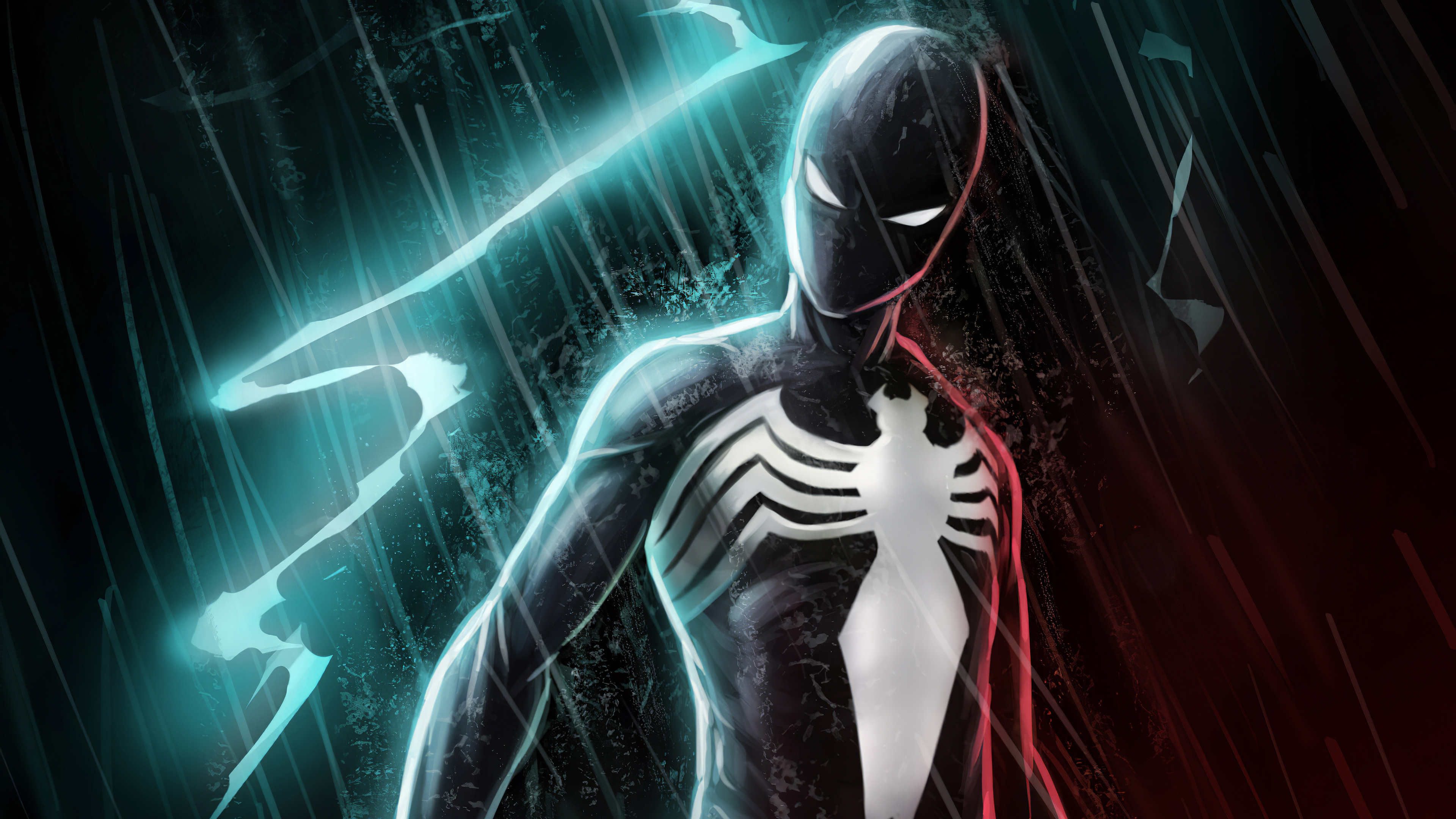 black spiderman lightning 1572369002 - Black Spiderman Lightning - superheroes wallpapers, spiderman wallpapers, hd-wallpapers, digital art wallpapers, artwork wallpapers, artstation wallpapers, artist wallpapers, 4k-wallpapers